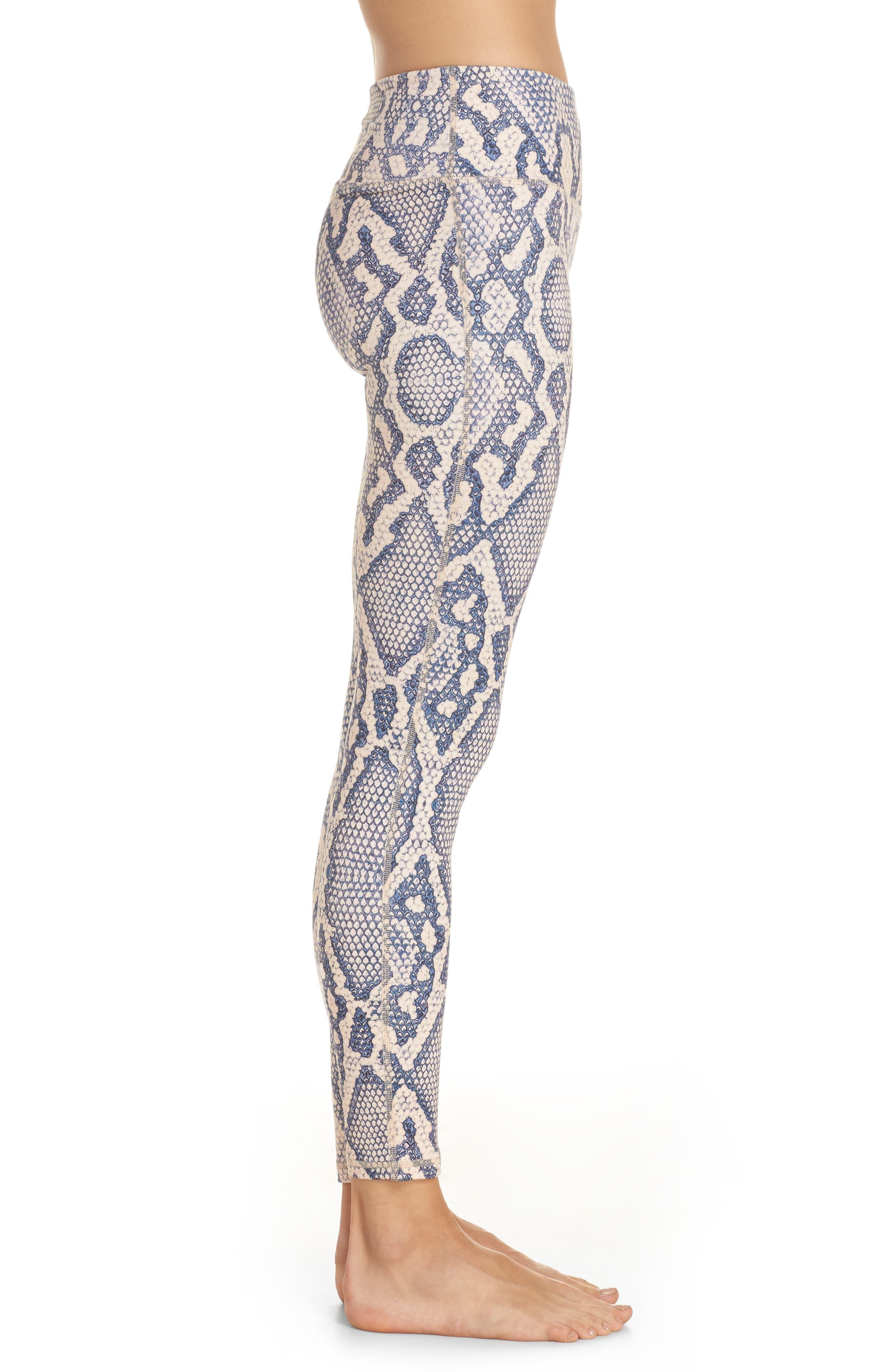 Bronson 7/8 Leggings,                             Alternate thumbnail 3, color,                             Mauve Snake