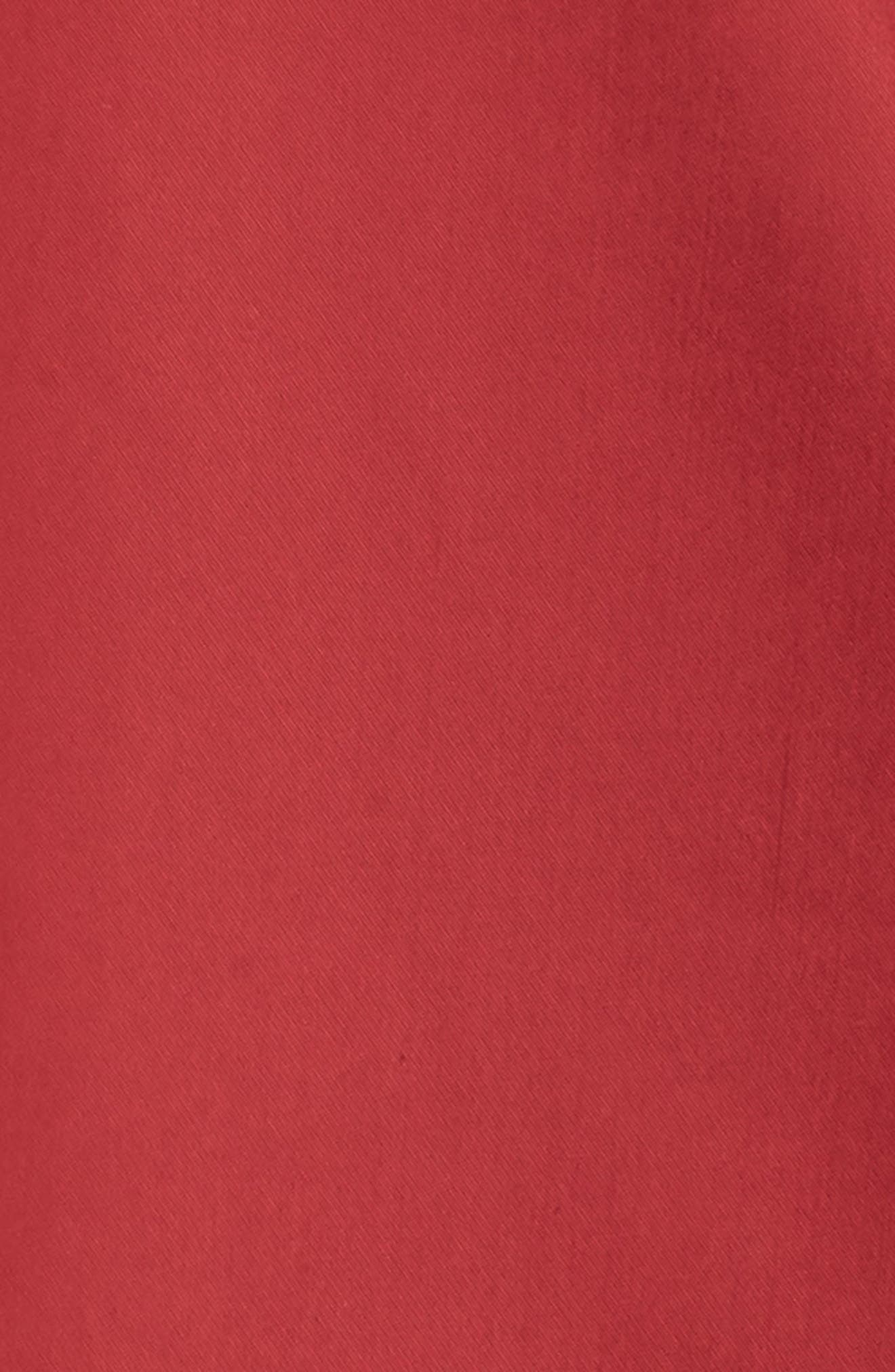 Flare Sleeve Packable Swing Jacket,                             Alternate thumbnail 5, color,                             Garnet