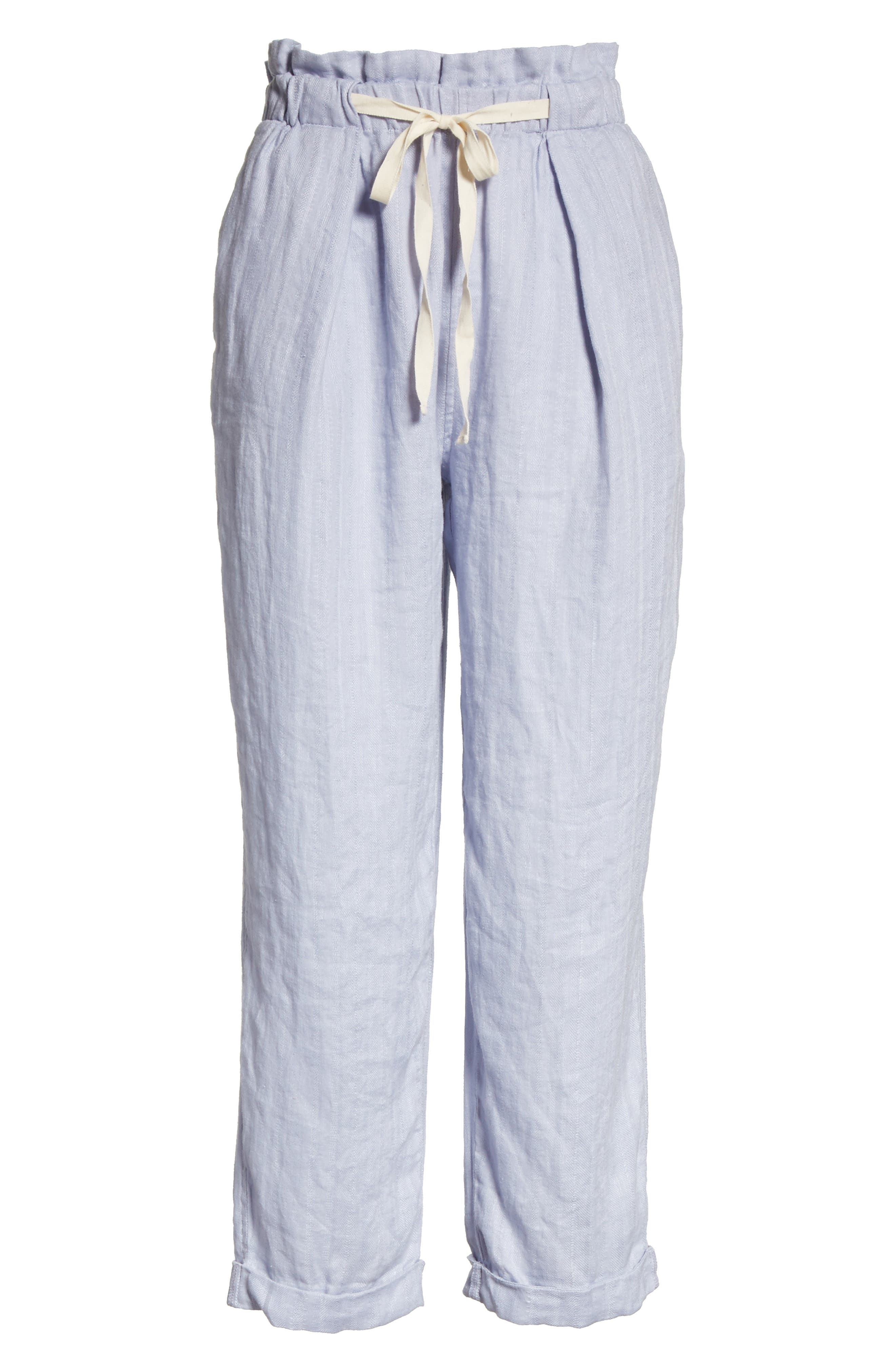 Only over You Linen Trousers,                             Alternate thumbnail 7, color,                             Pearl