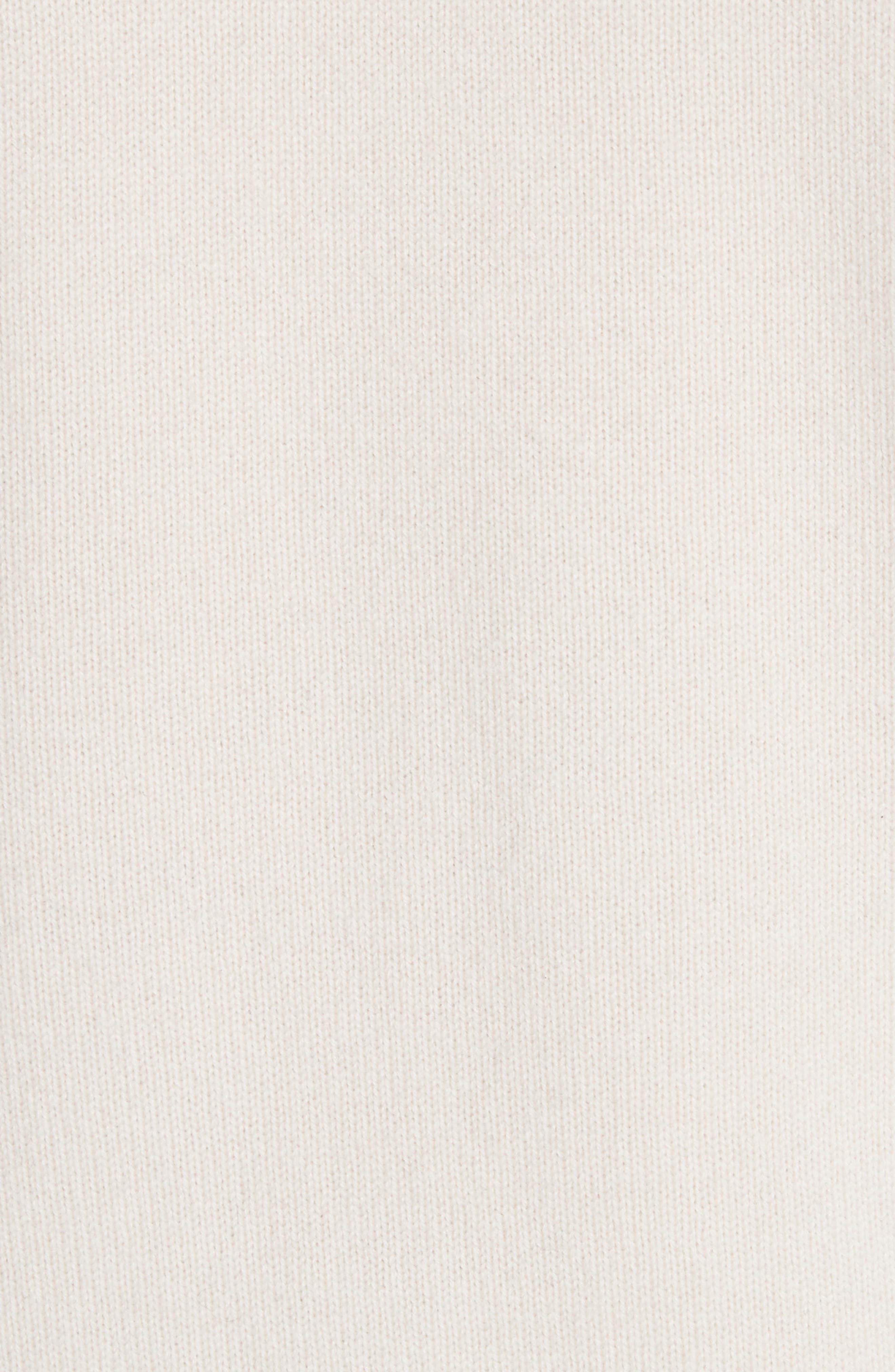 Cashmere Raglan Sleeve Sweater,                             Alternate thumbnail 5, color,                             Sandstone