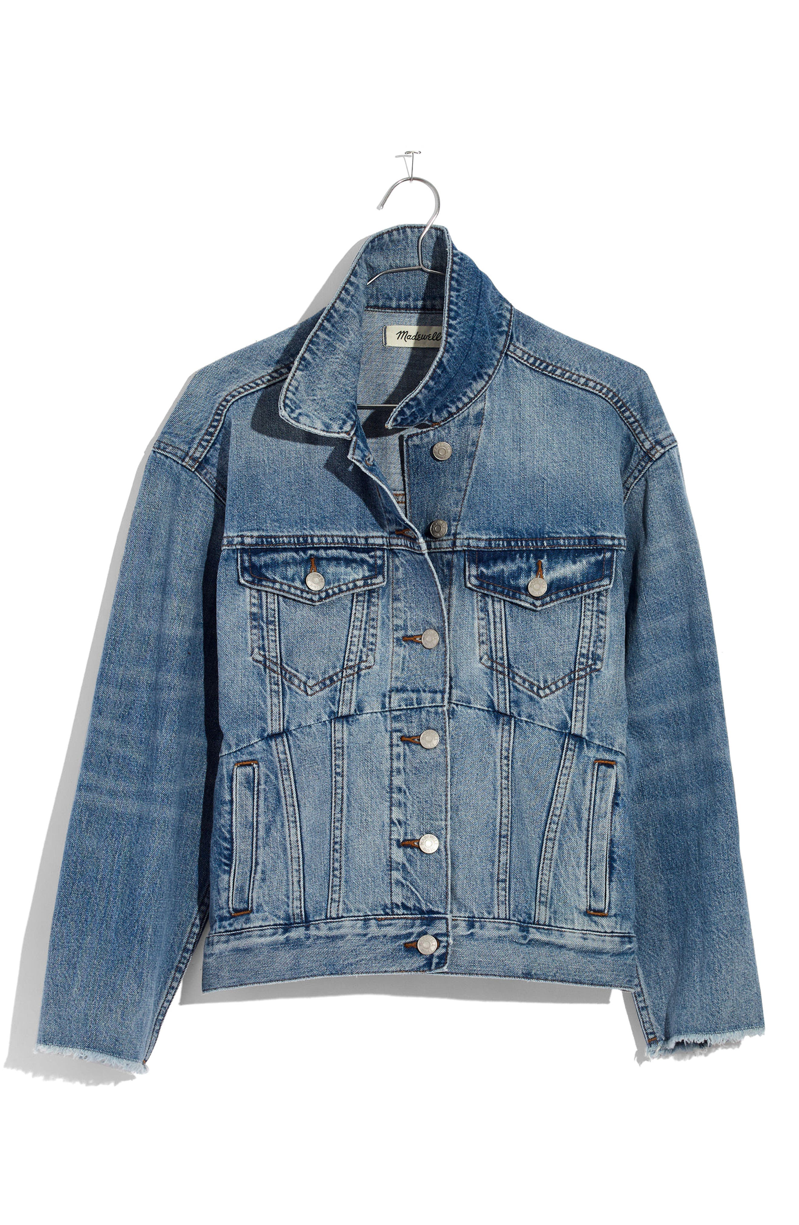 Reconstructed Jean Jacket,                             Alternate thumbnail 4, color,                             Beecher Wash
