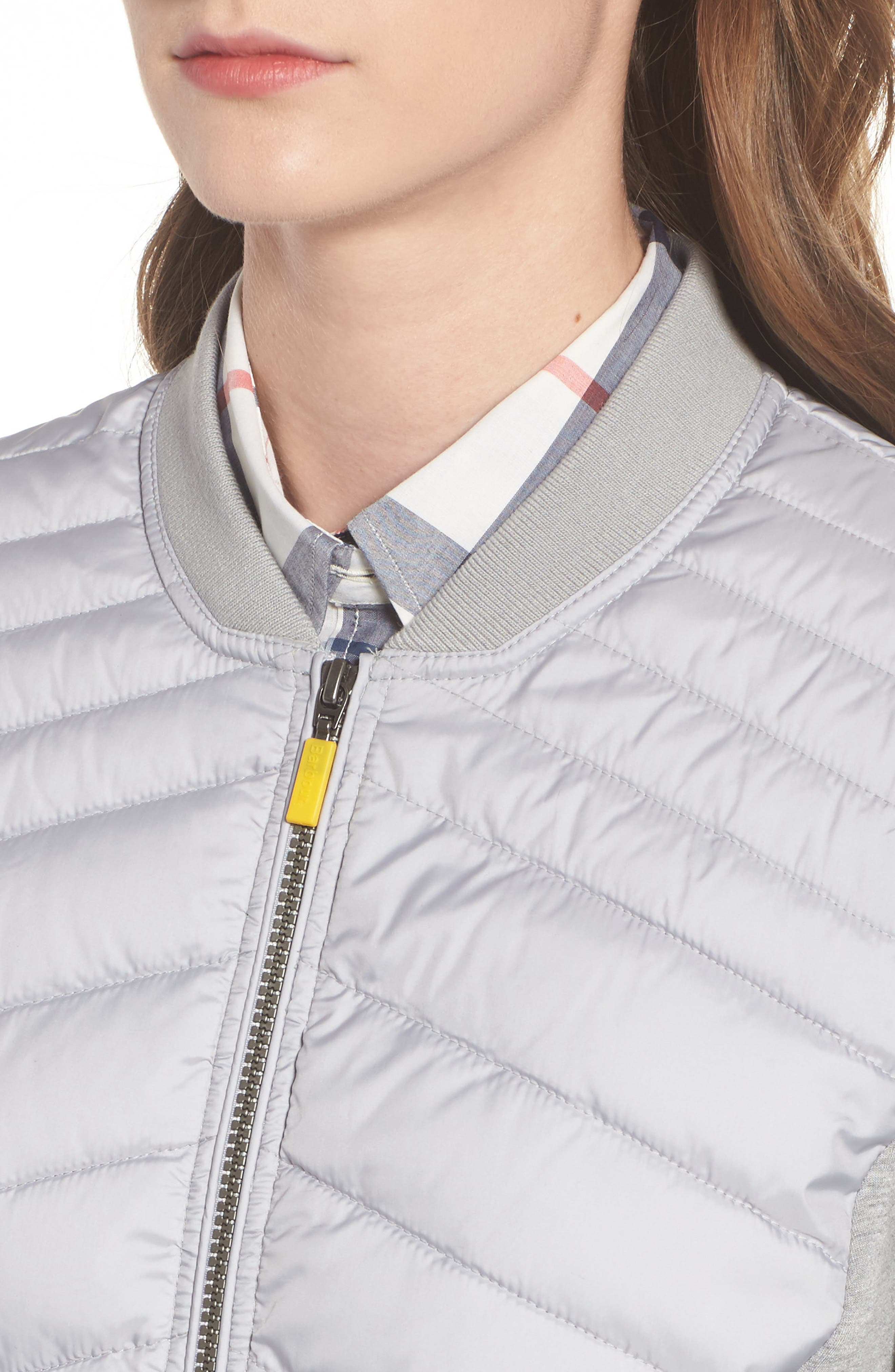 Pembrey Sweatshirt Jacket,                             Alternate thumbnail 4, color,                             Ice White