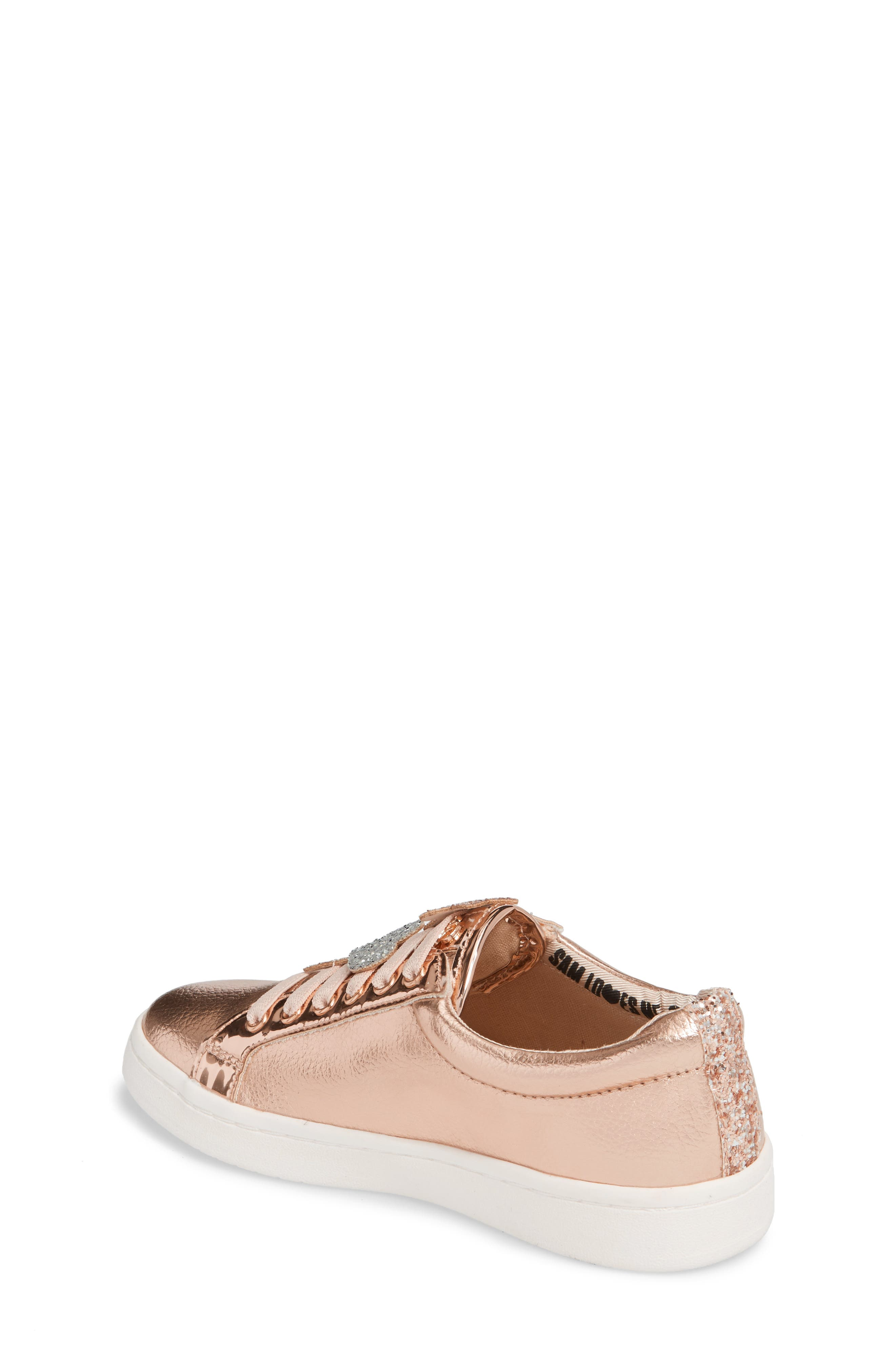 Blane Sammie Slip-On Sneaker,                             Alternate thumbnail 2, color,                             Rose Gold Faux Leather