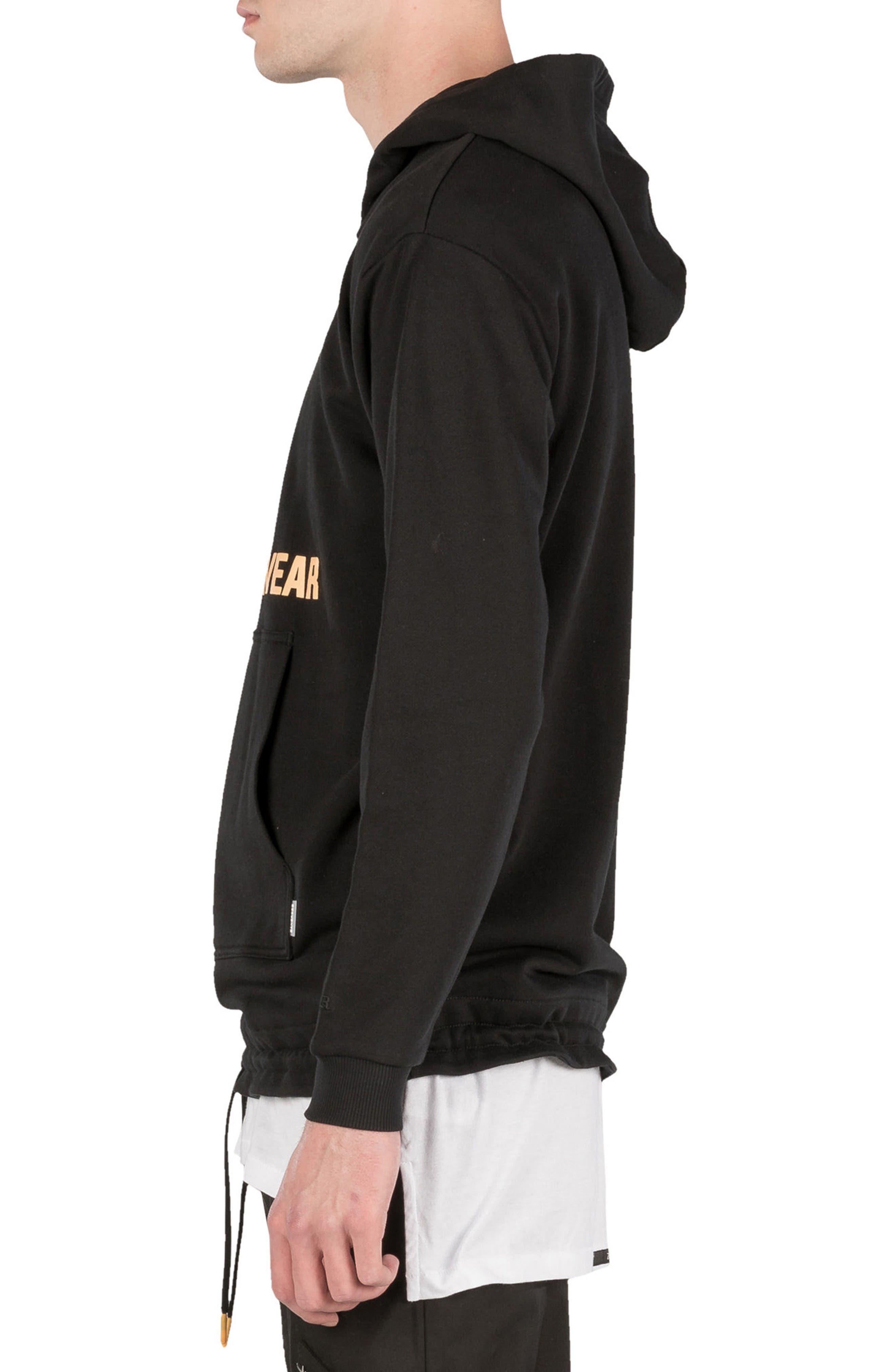 Teamwear Box Hoodie Sweatshirt,                             Alternate thumbnail 3, color,                             Black