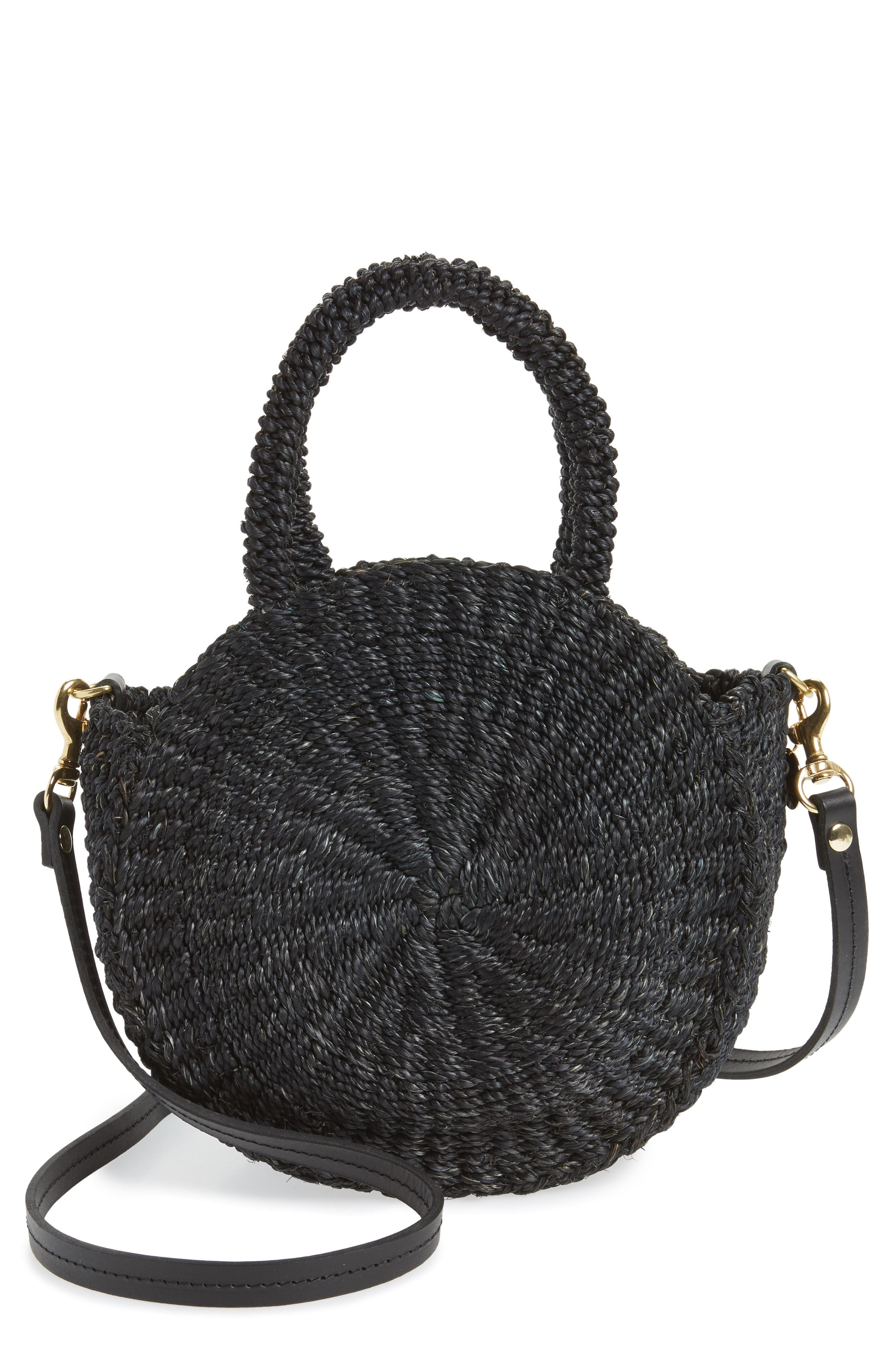 Alternate Image 1 Selected - Clare V. Petite Alice Straw Bag