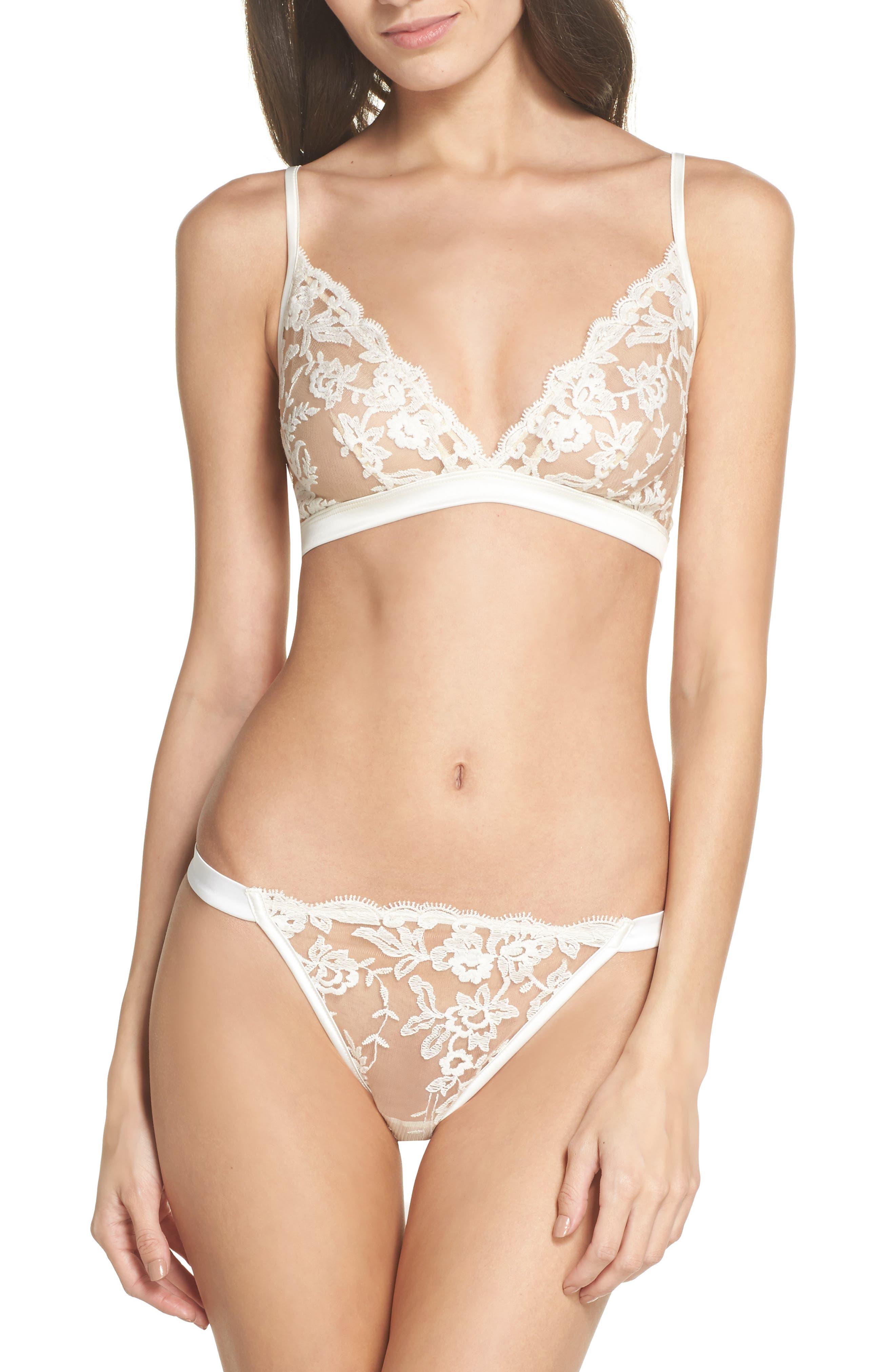 Rosie String Bikini,                             Alternate thumbnail 5, color,                             Moon Ivory