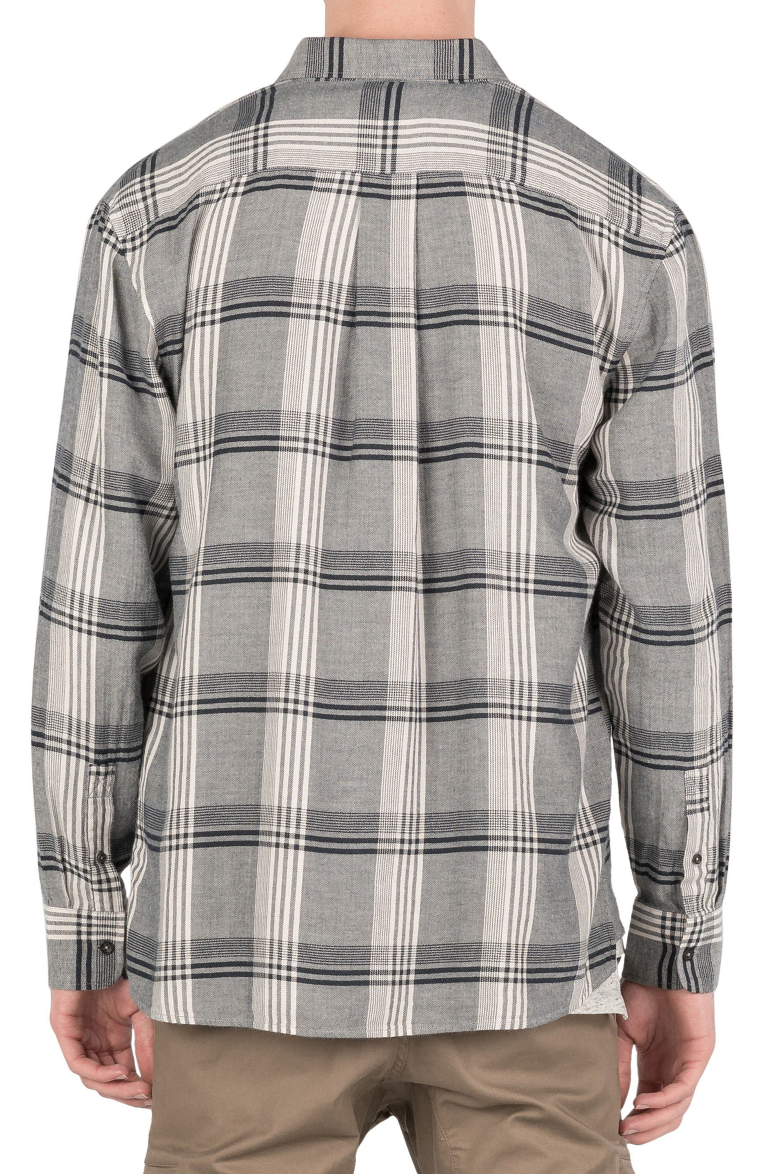 Plaid Box Shirt,                             Alternate thumbnail 2, color,                             Navy/ White