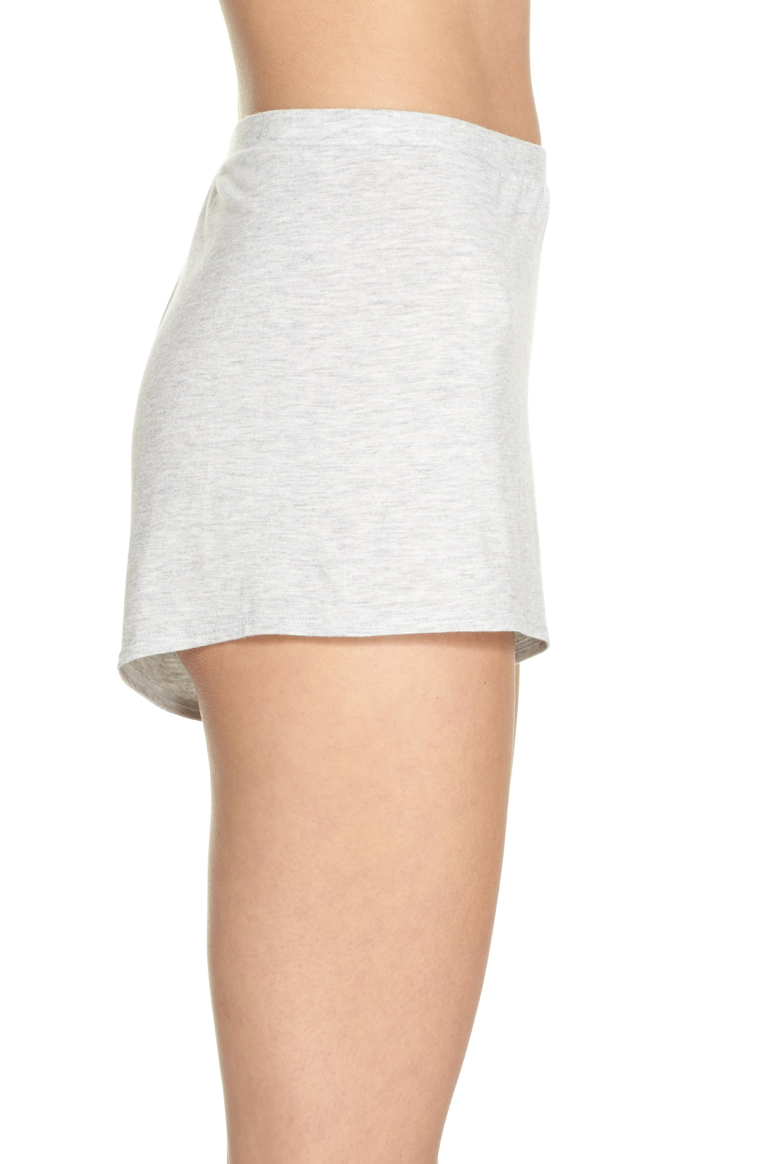 Undressed Pajama Shorts,                             Alternate thumbnail 3, color,                             Silver
