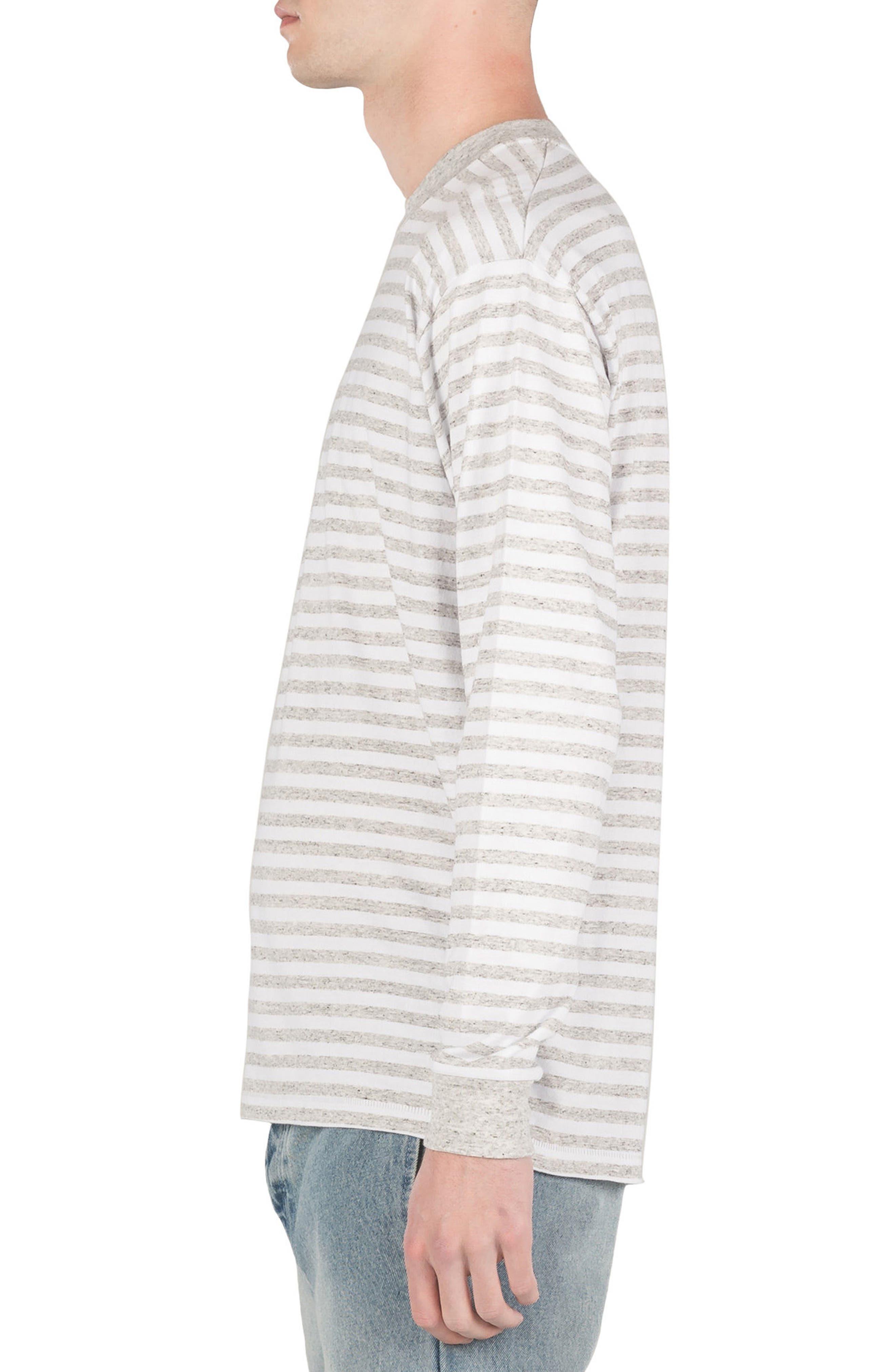 Box Long Sleeve T-Shirt,                             Alternate thumbnail 3, color,                             White/ Storm Marle