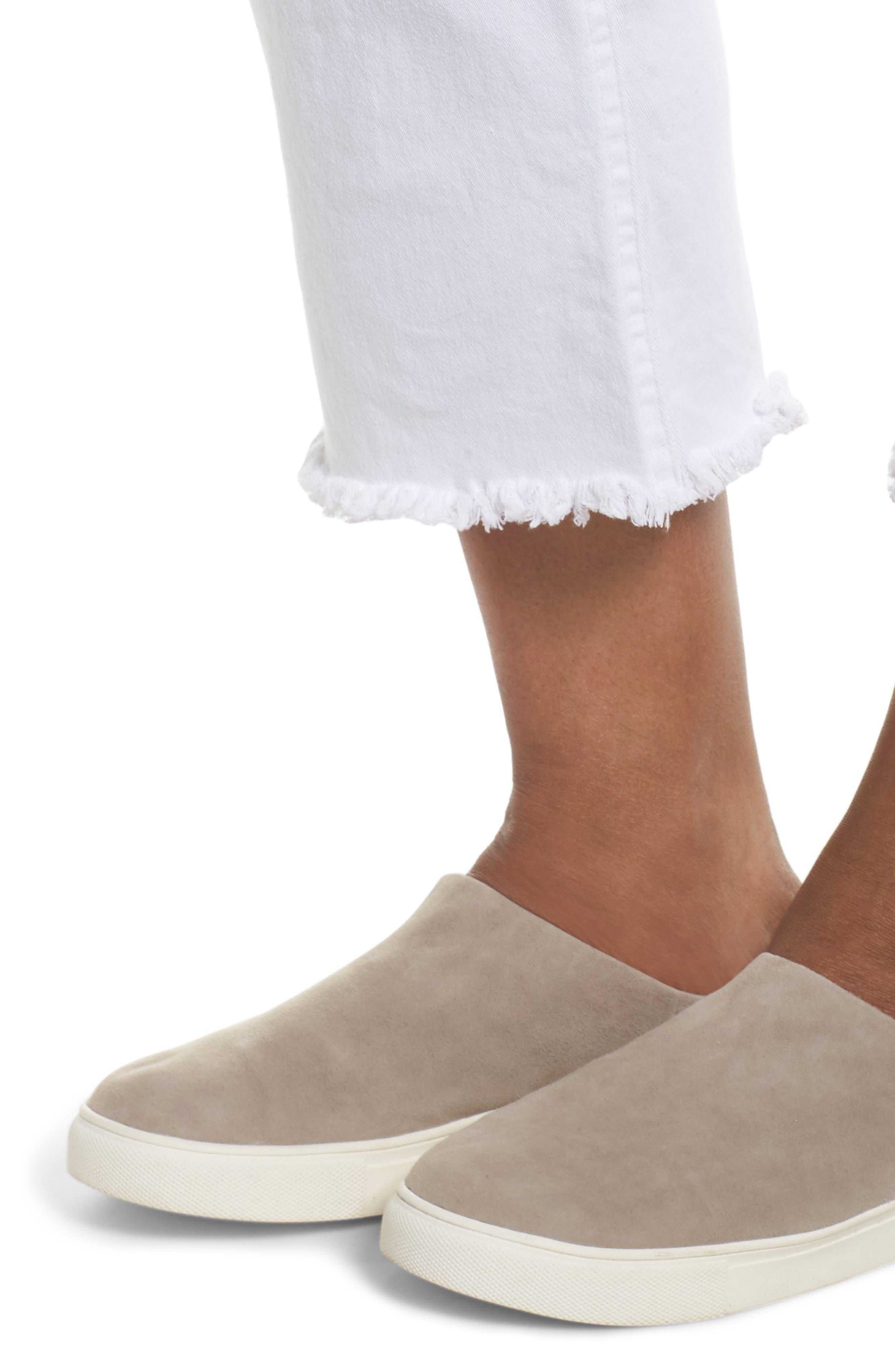 Alternate Image 4  - Hue Raw Fringe Hem Skimmer Denim Leggings (Plus Size)