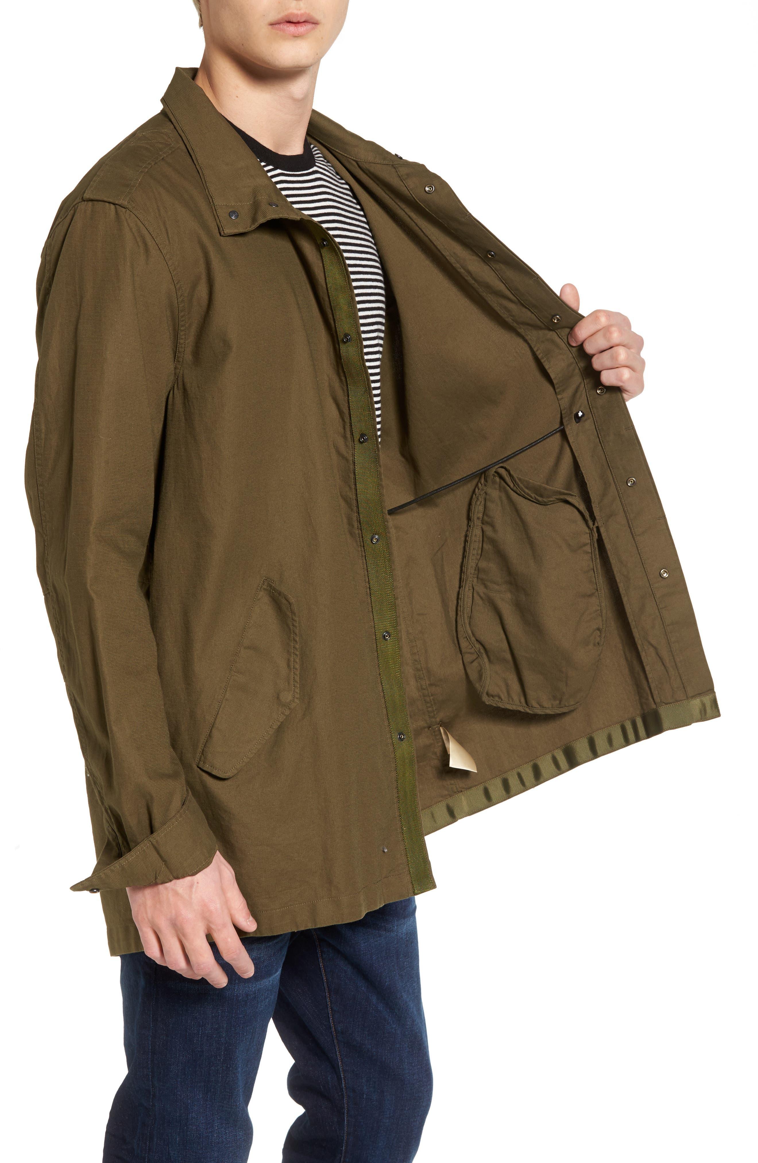 Shirt Jacket Parka,                             Alternate thumbnail 3, color,                             Army