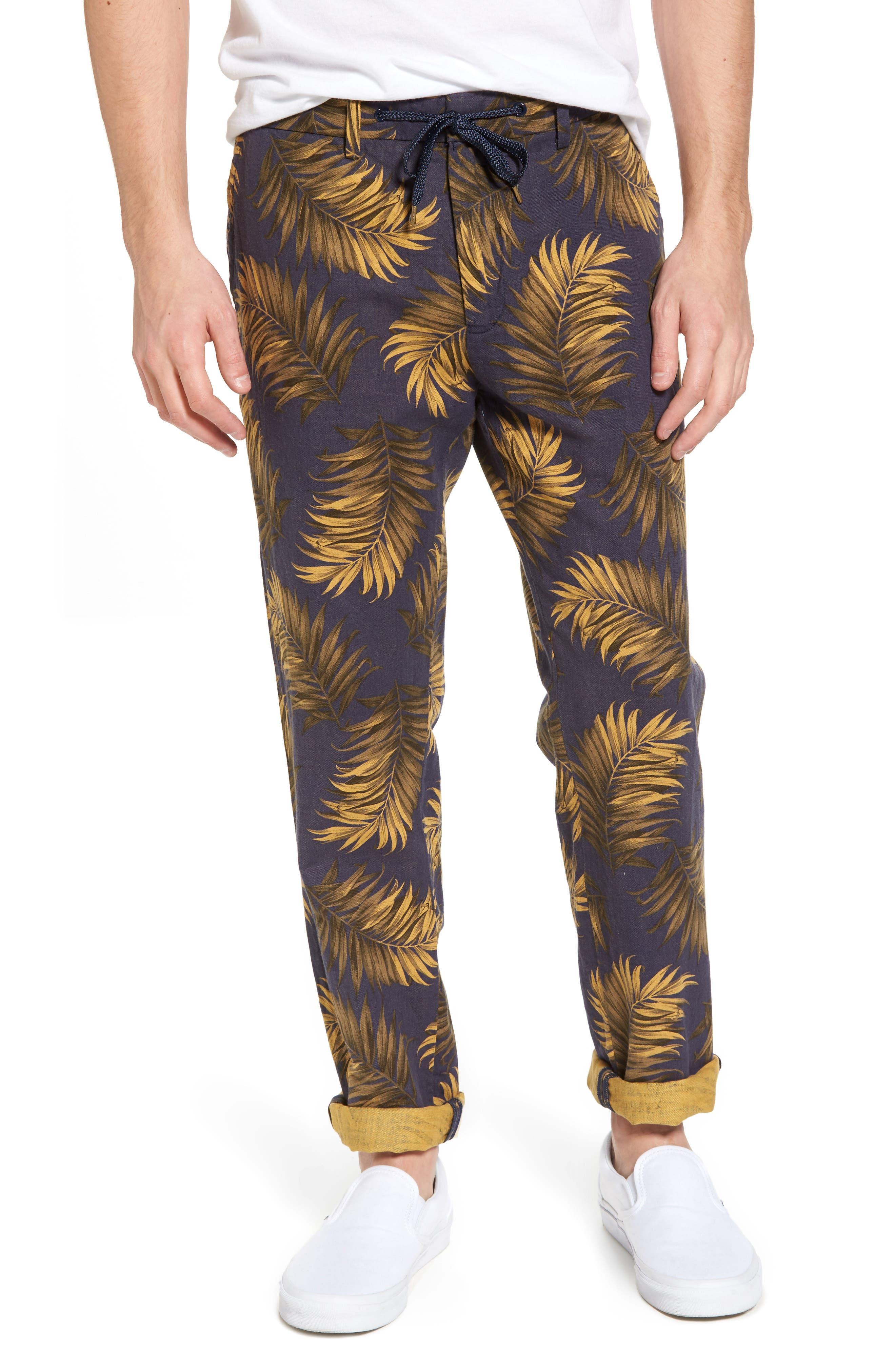 Linen Beach Pants,                         Main,                         color, Combo A
