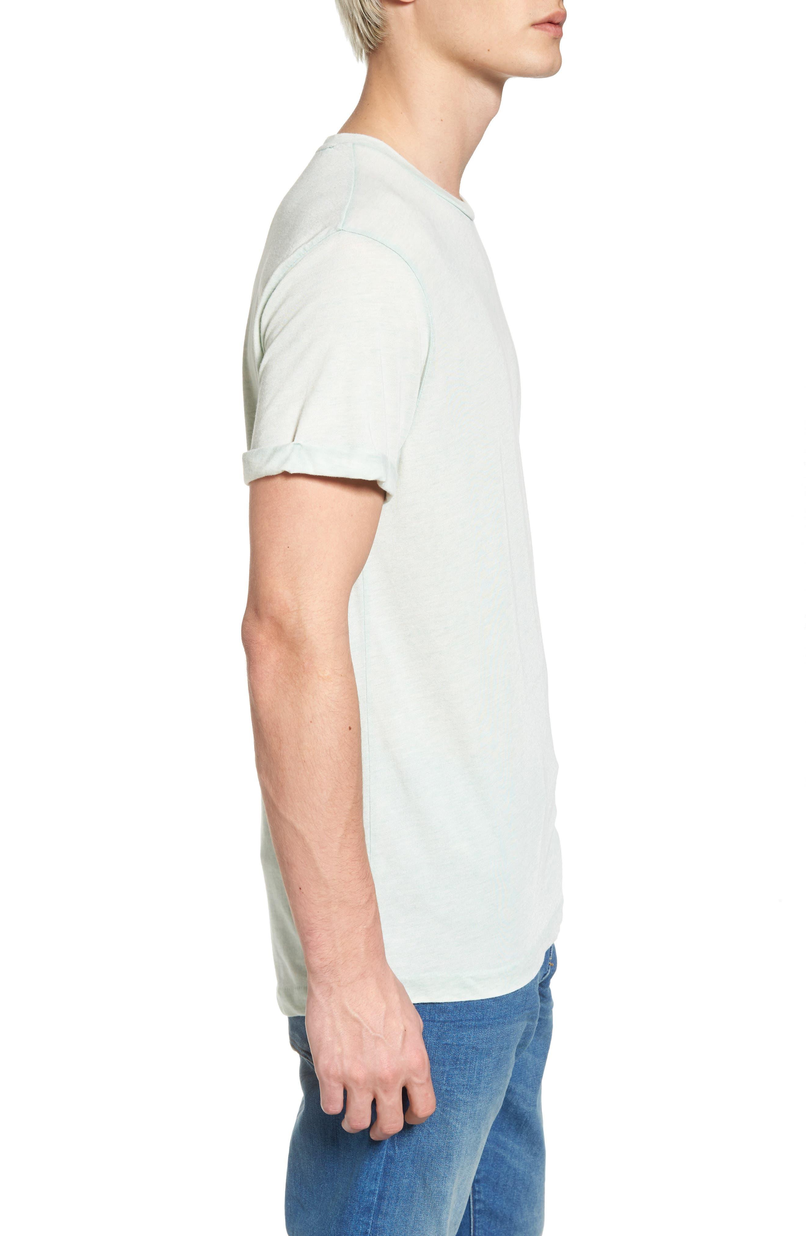 Ausbrenner T-Shirt,                             Alternate thumbnail 3, color,                             Seafoam Green Melange