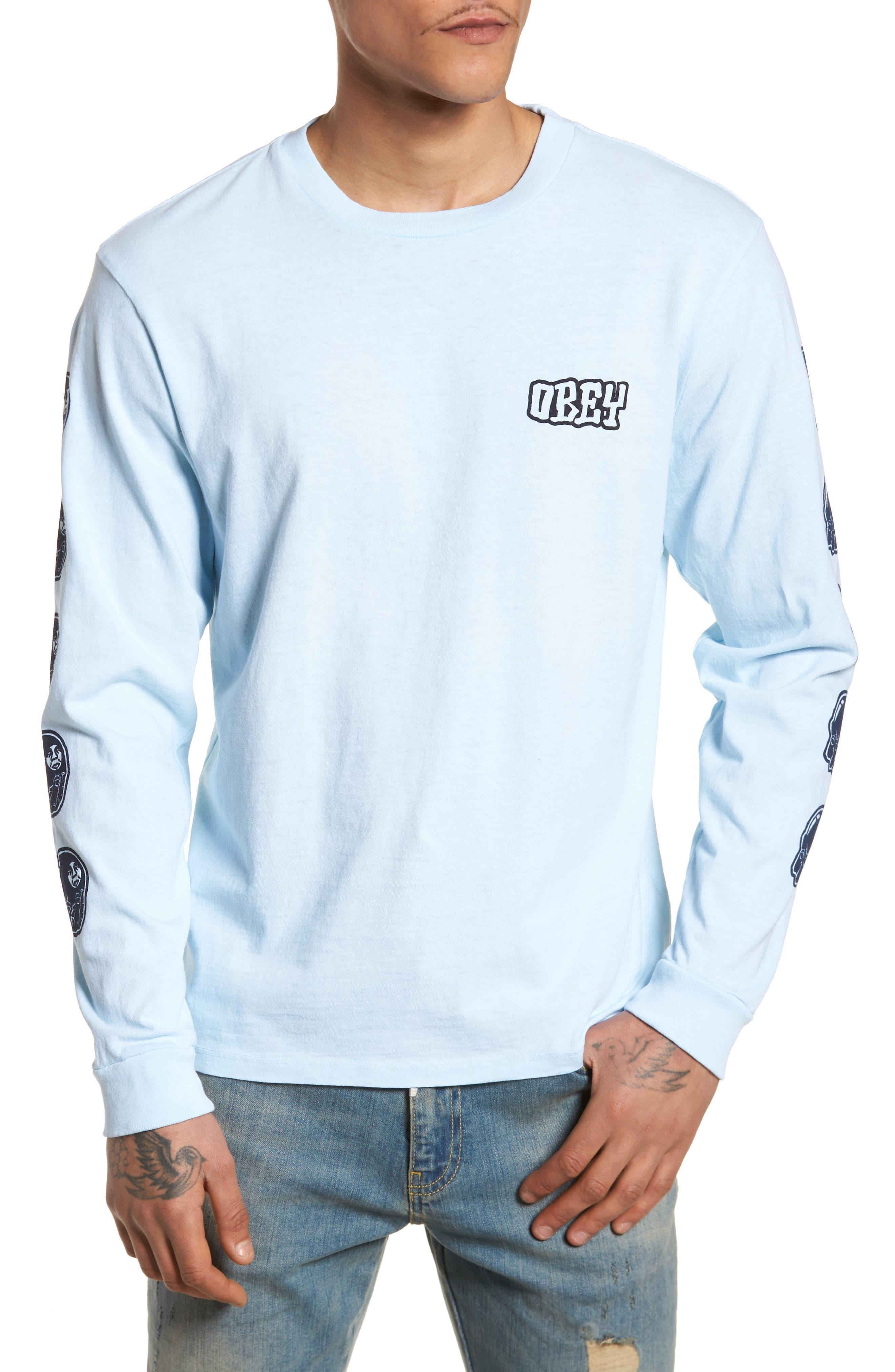 Unwritten Future Graphic T-Shirt,                         Main,                         color, Dusty Blue