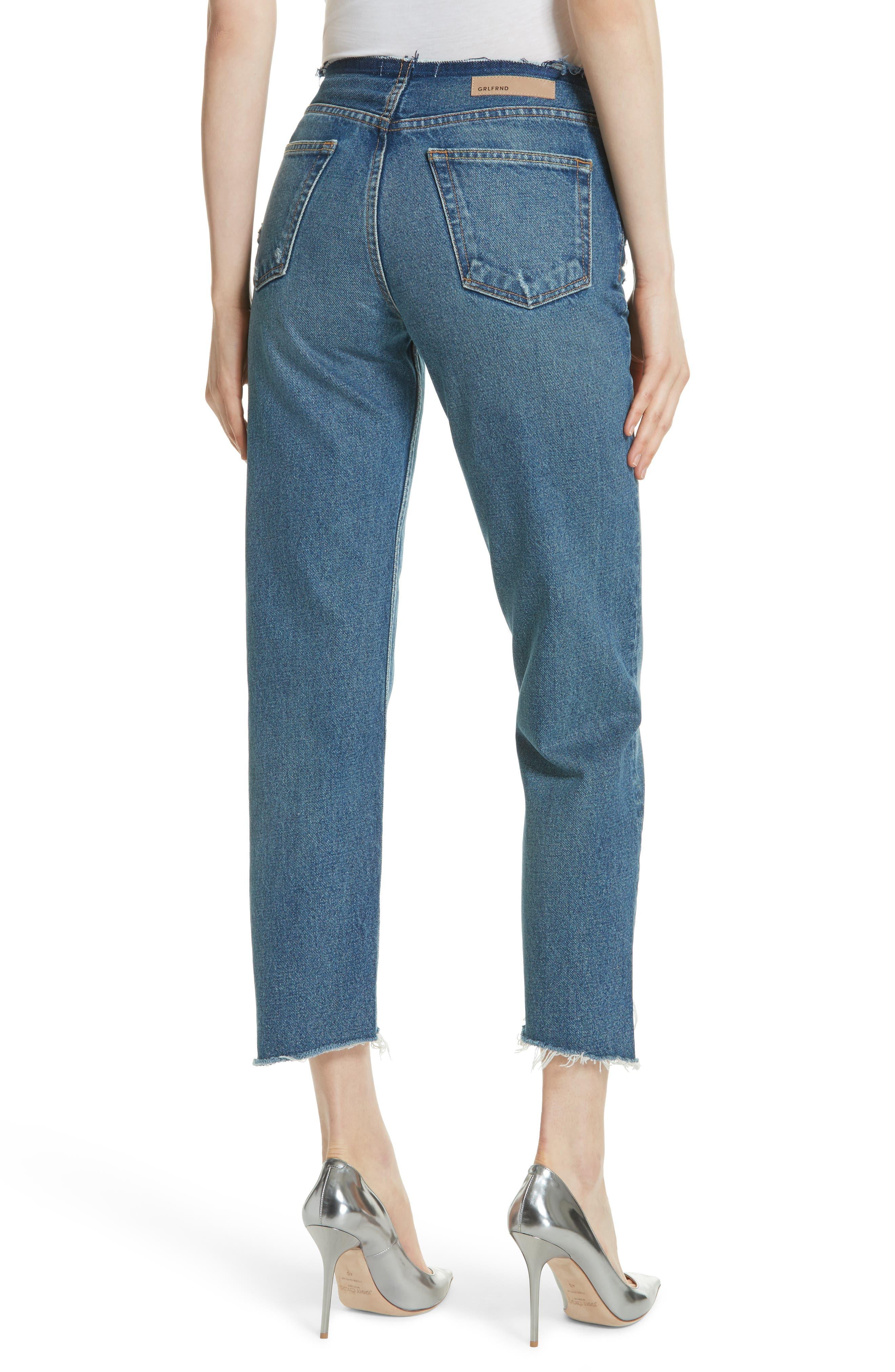 Shannan Step Hem Crop Jeans,                             Alternate thumbnail 2, color,                             Show Down G611
