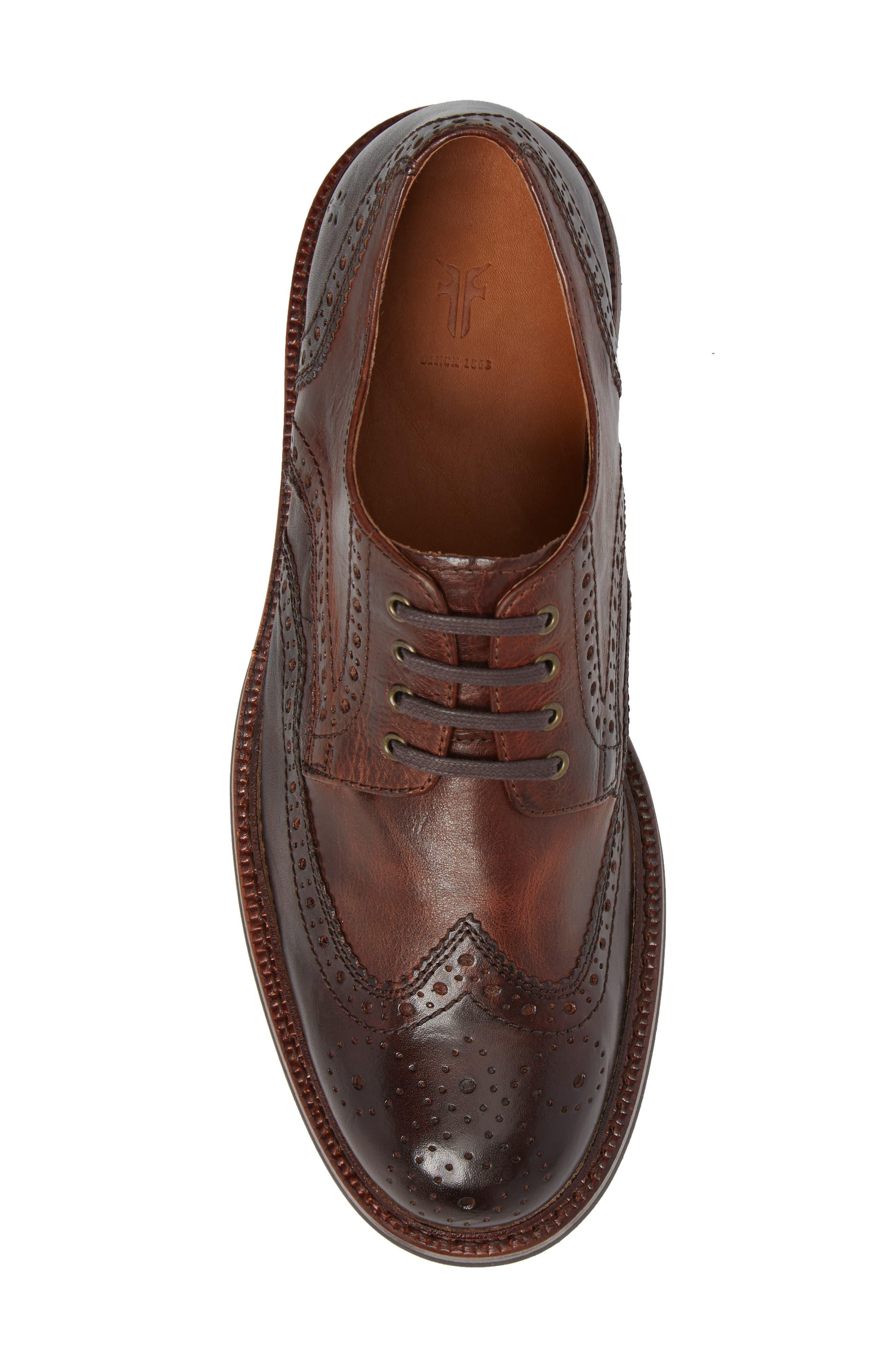 Graham Wingtip,                             Alternate thumbnail 5, color,                             Cognac Leather