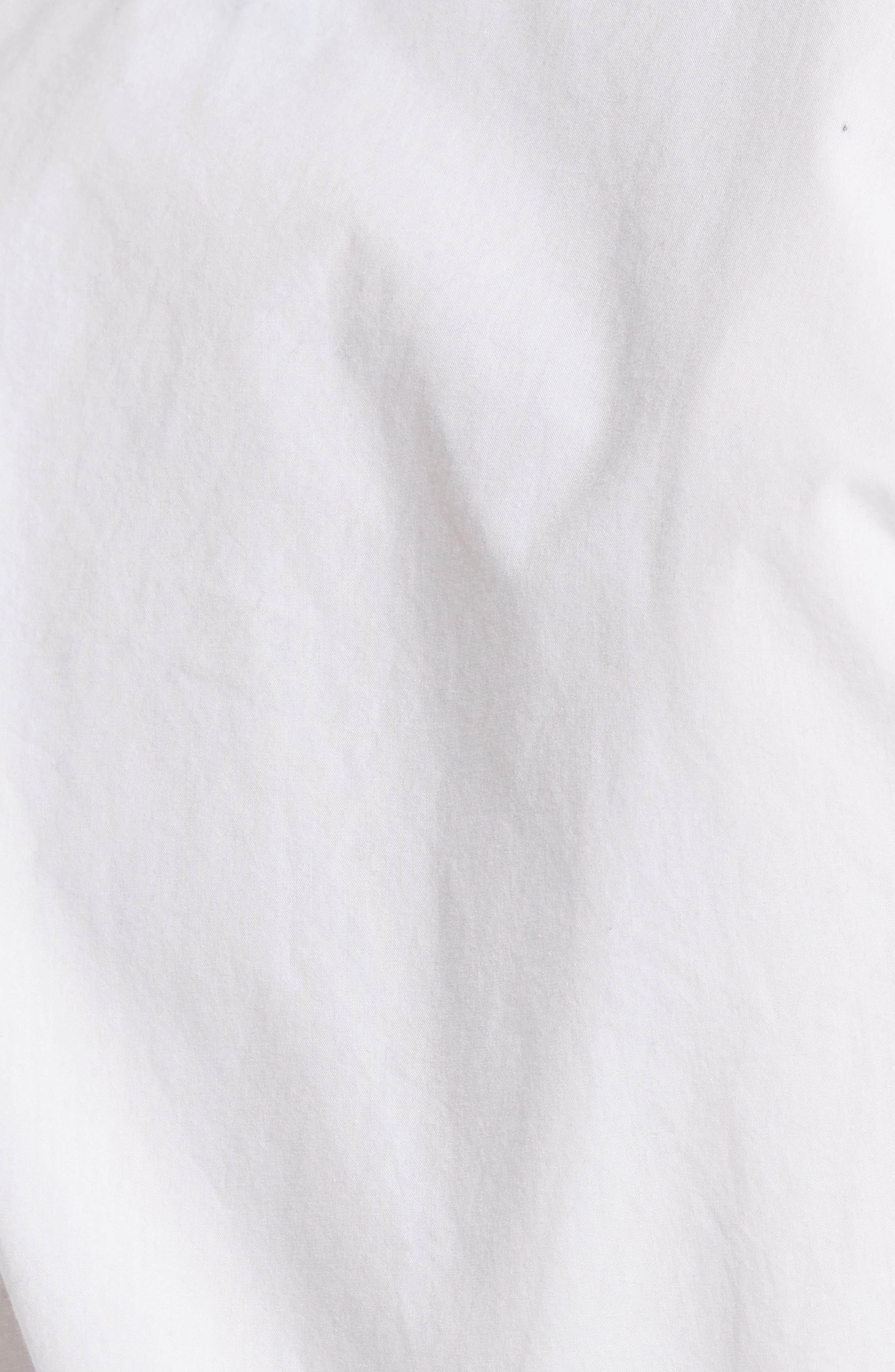 Hausu Bow Back Blouse,                             Alternate thumbnail 5, color,                             Clean White
