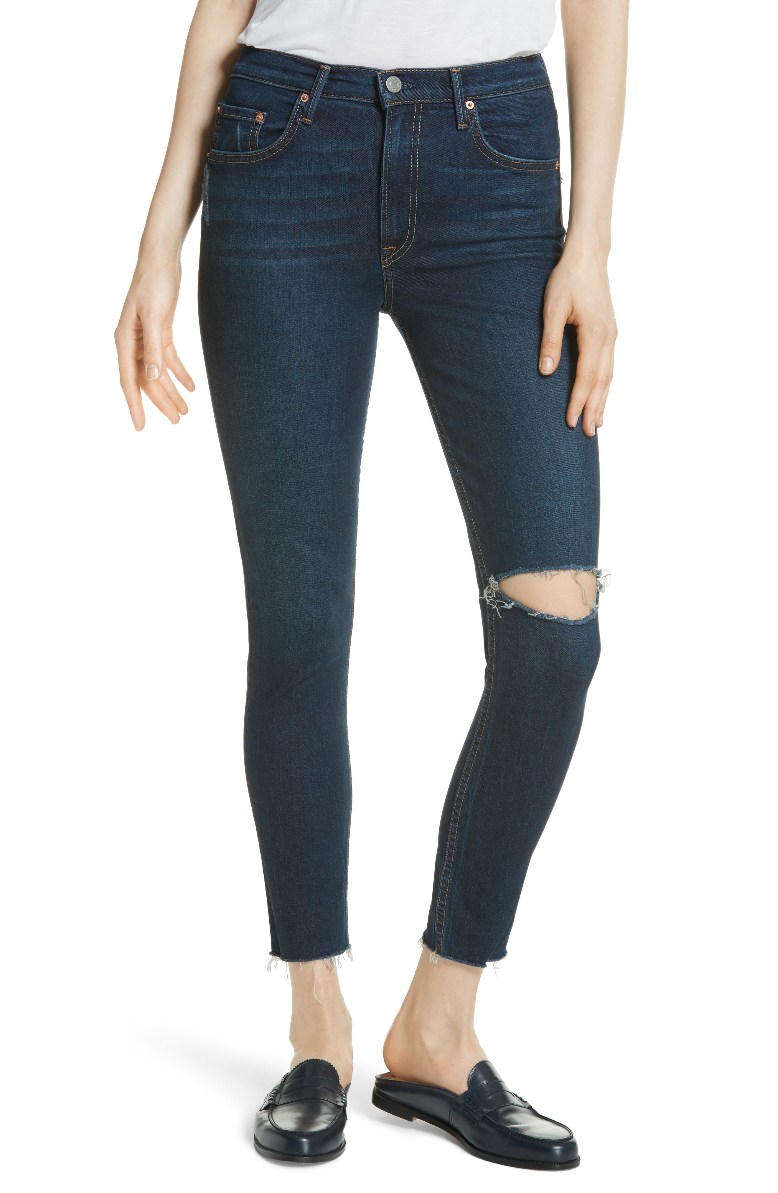 Kendall Super Stretch High Waist Skinny Jeans,                         Main,                         color, Marbled G526