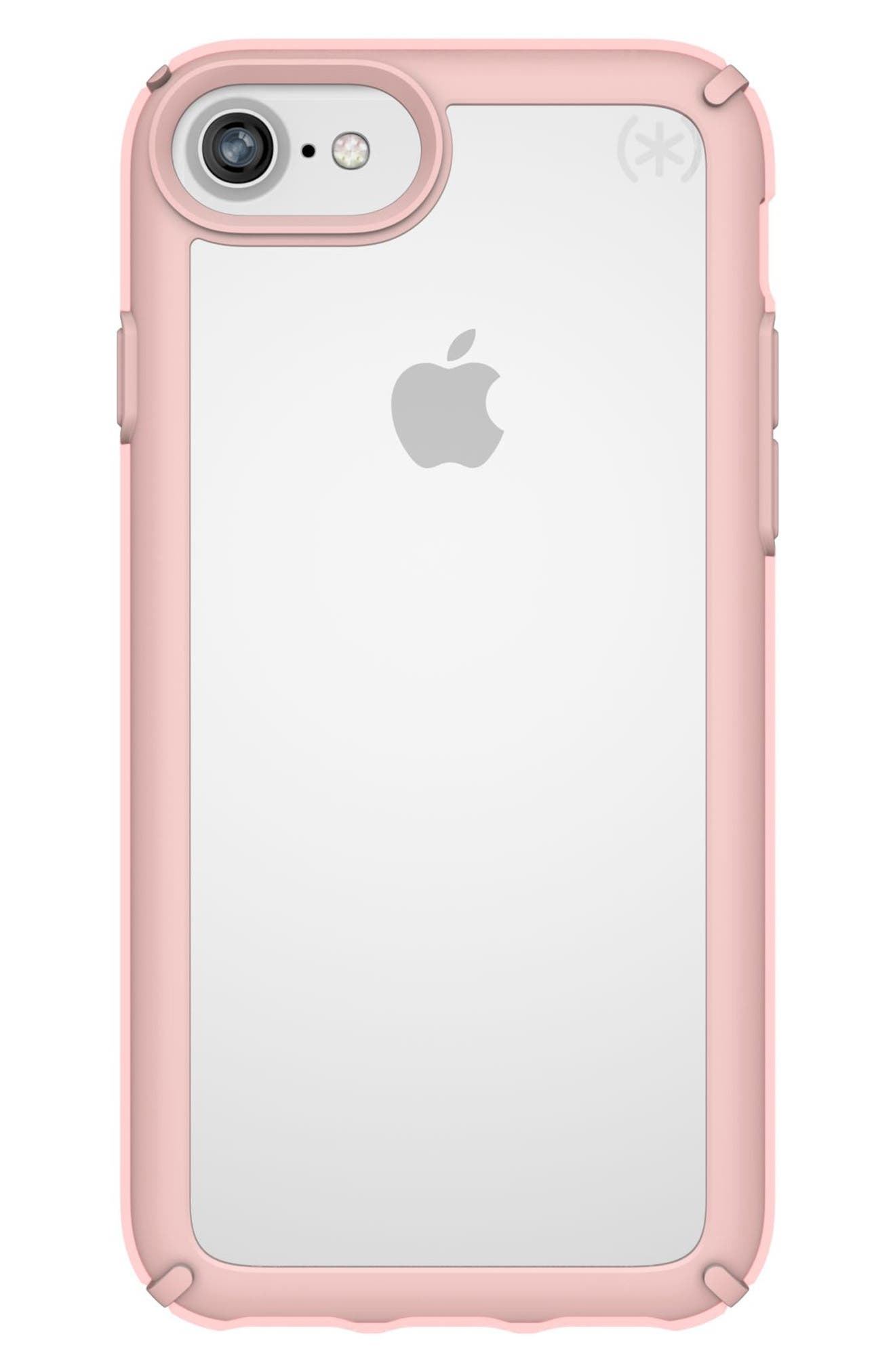 Transparent iPhone 6/6s/7/8 Case,                         Main,                         color, Clear/ Rose Gold