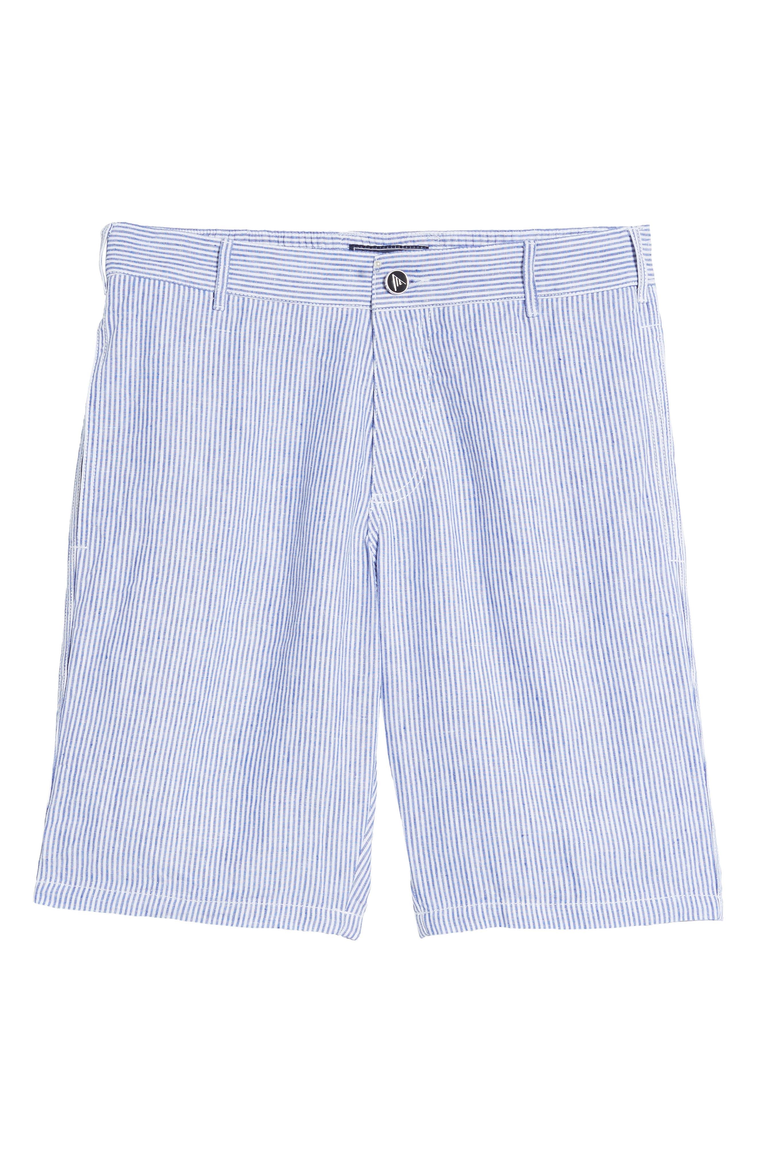 Alternate Image 6  - Vilebrequin Stripe Linen Bermuda Shorts