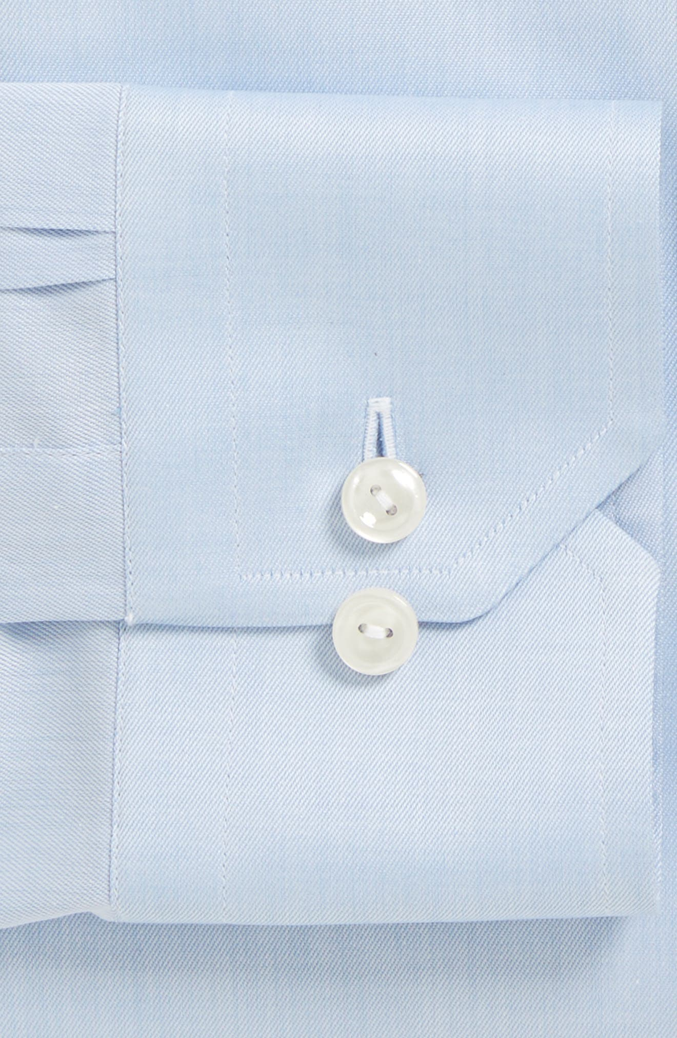 Contemporary Fit Twill Dress Shirt,                             Alternate thumbnail 4, color,                             Blue
