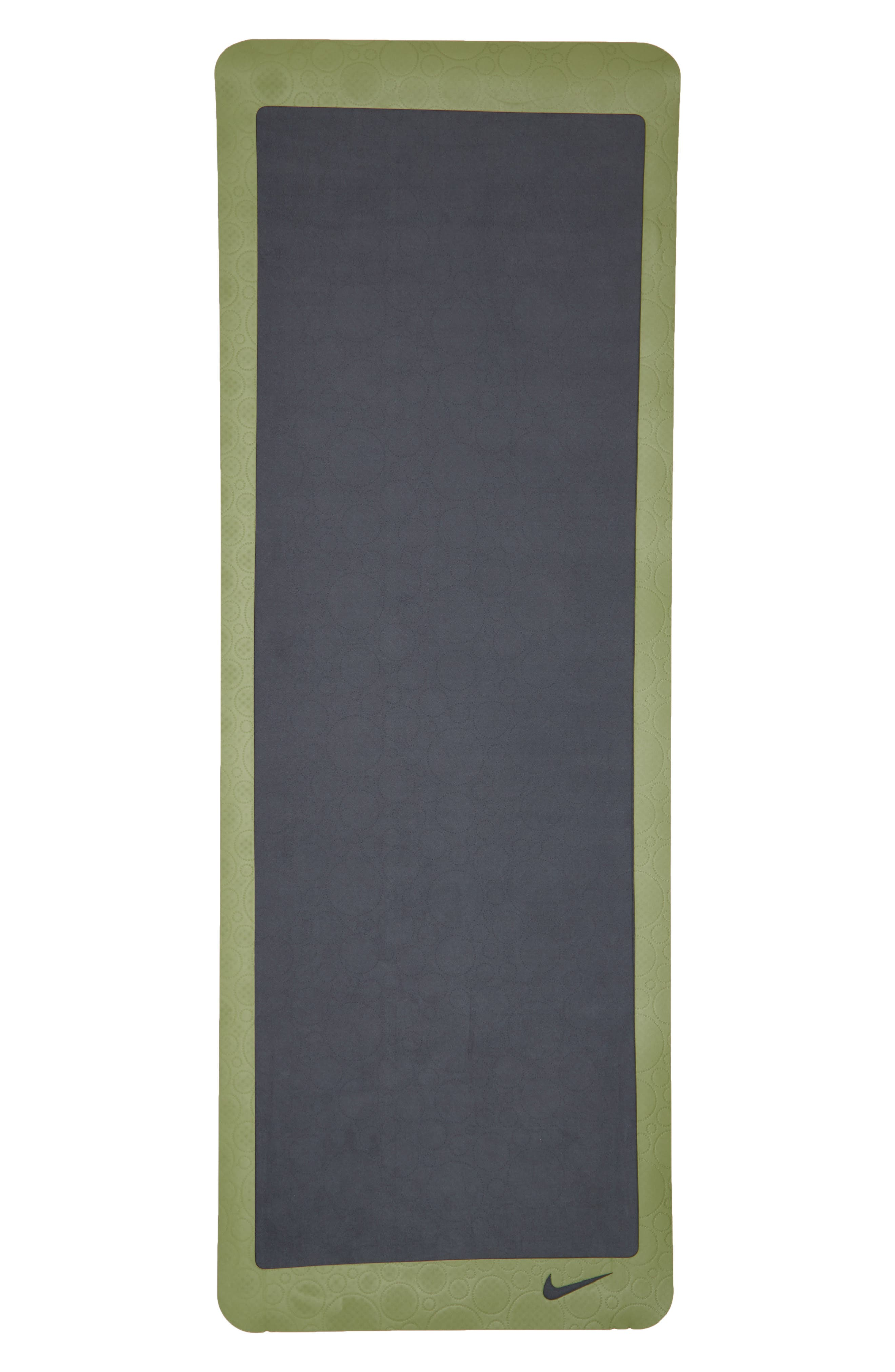 Ultimate 8mm Foam Pilates Mat,                             Alternate thumbnail 2, color,                             Anthracite/ Palm Green