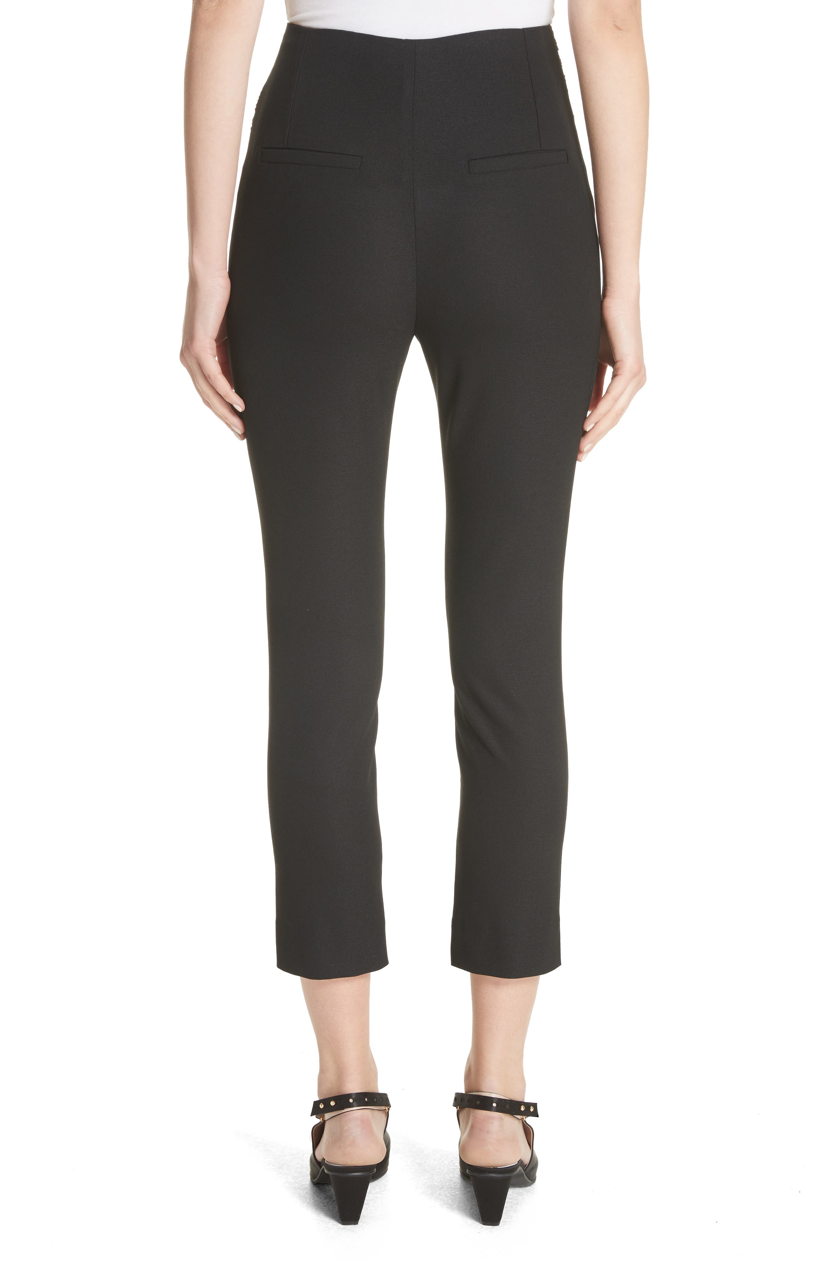 Le Corsaire Slim Crop Pants,                             Alternate thumbnail 2, color,                             Black