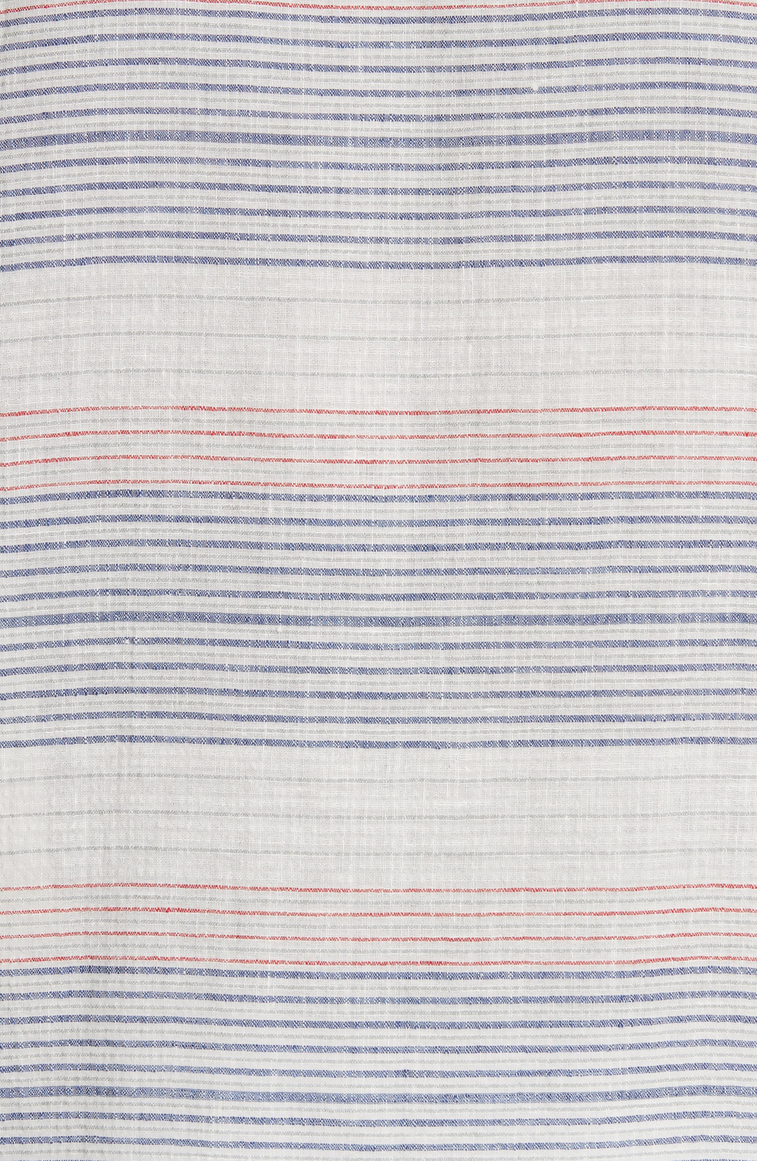 Americana Stripe Woven Camp Shirt,                             Alternate thumbnail 5, color,                             Multi
