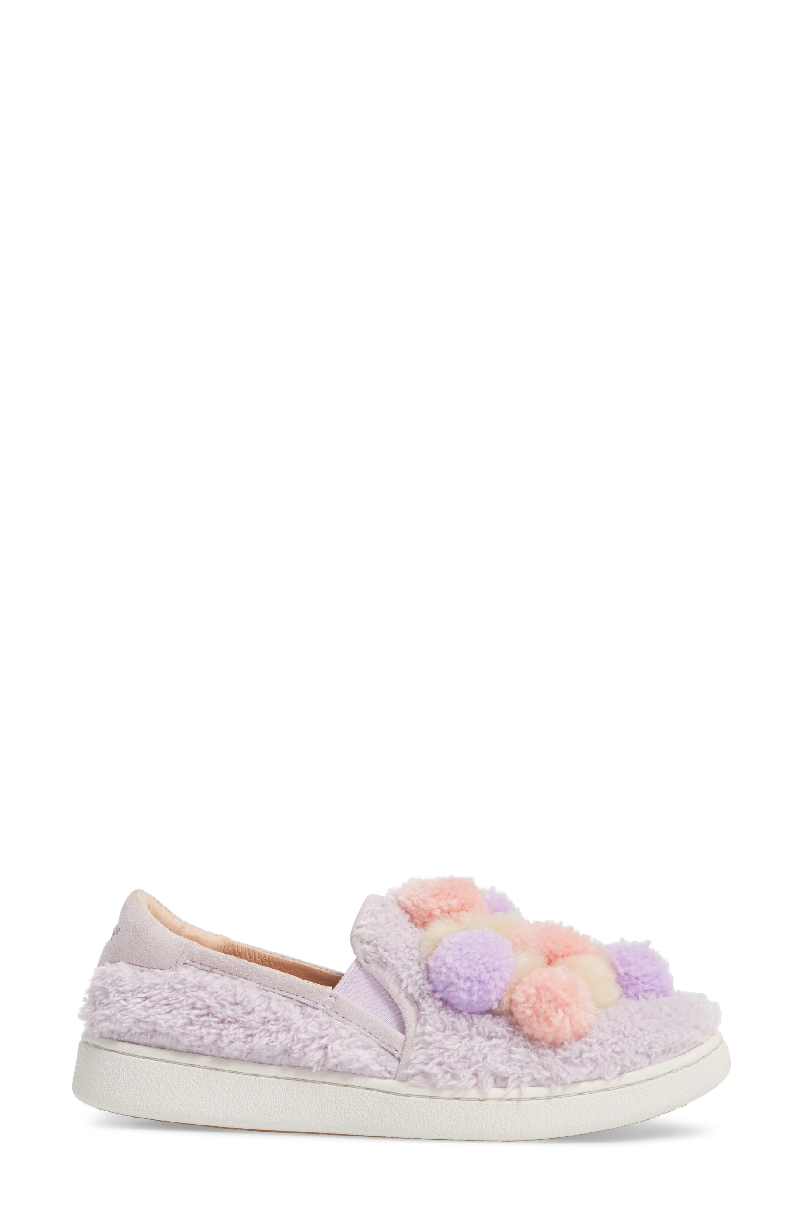 Alternate Image 3  - UGG® Ricci Plush Genuine Shearling Pompom Slip-On Sneaker (Women)