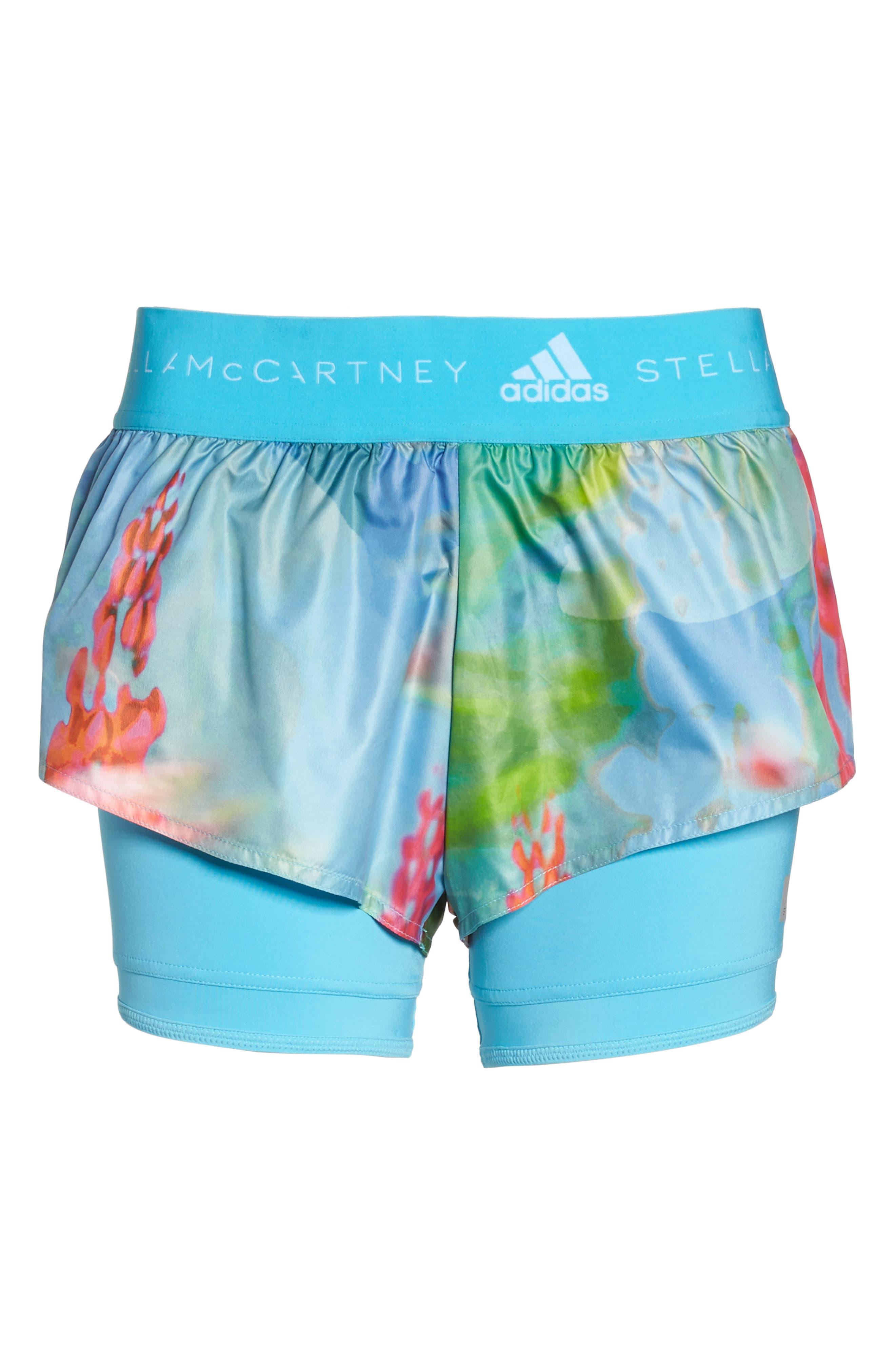 2-in-1 Run Shorts,                             Alternate thumbnail 7, color,                             Mirror Blue-Smc/ Multicolor
