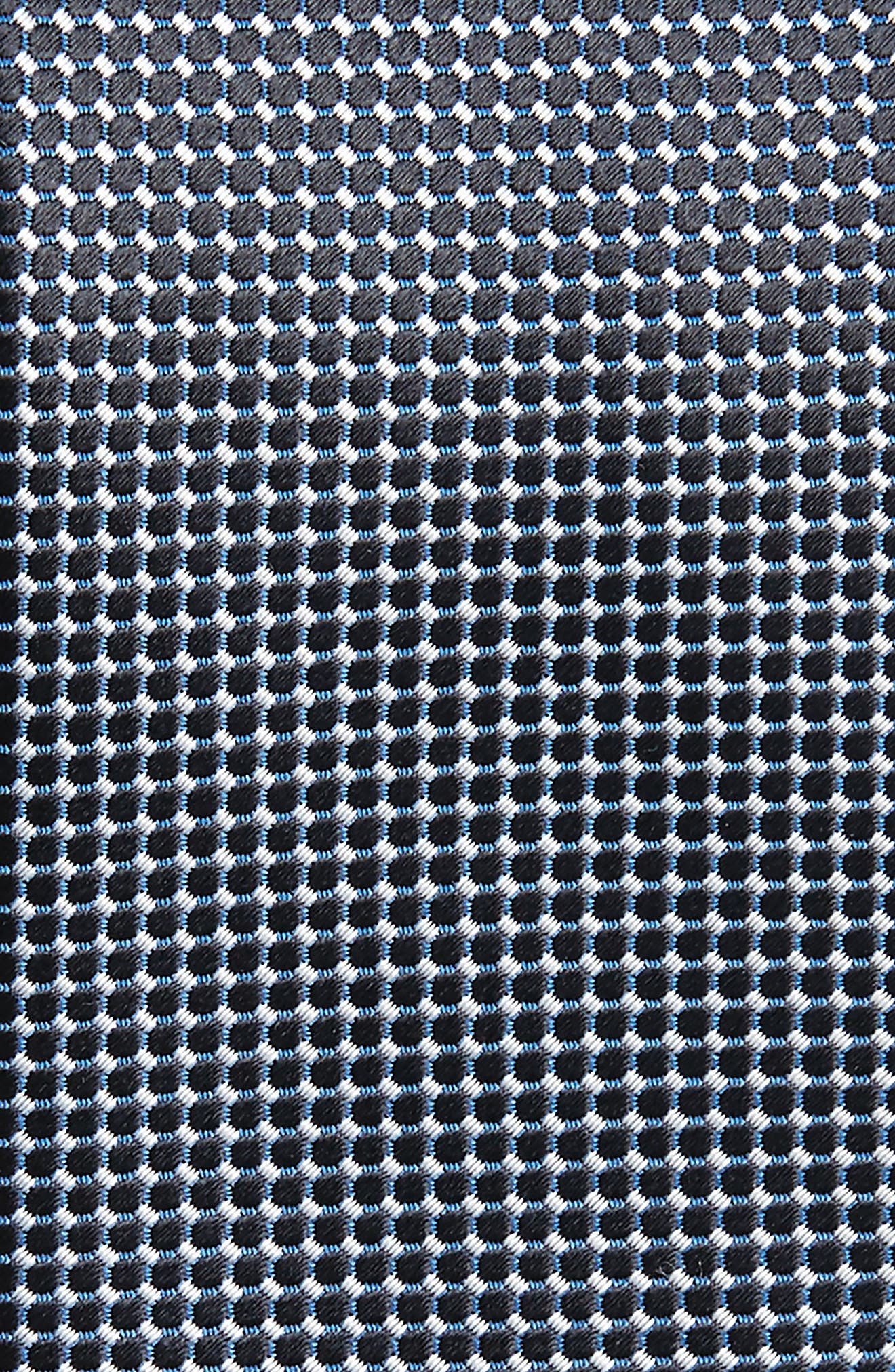 Geometric Silk Tie,                             Alternate thumbnail 2, color,                             Bright Blue