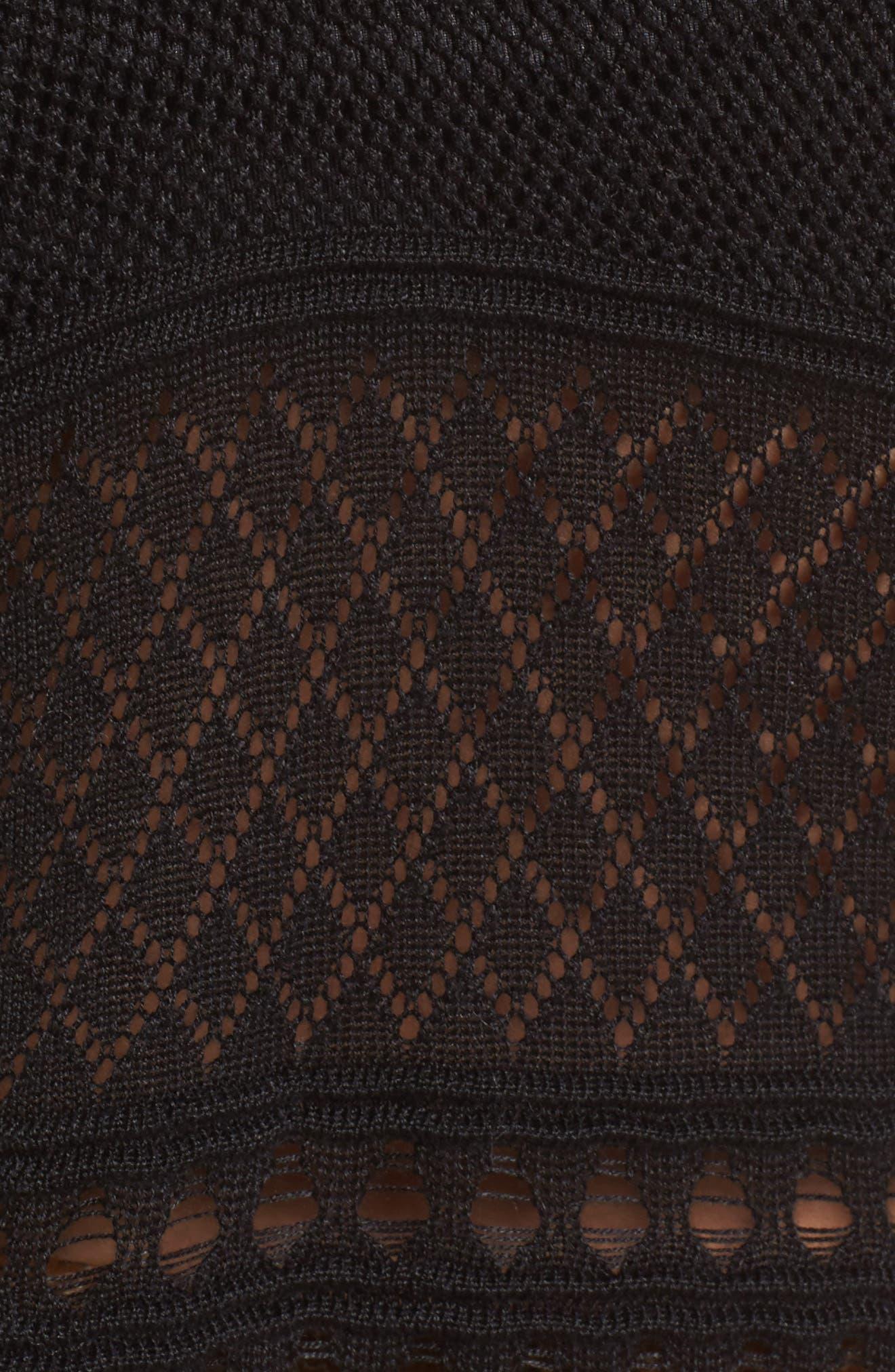Alternate Image 5  - Lira Clothing Annabel Cold Shoulder Pointelle Sweater