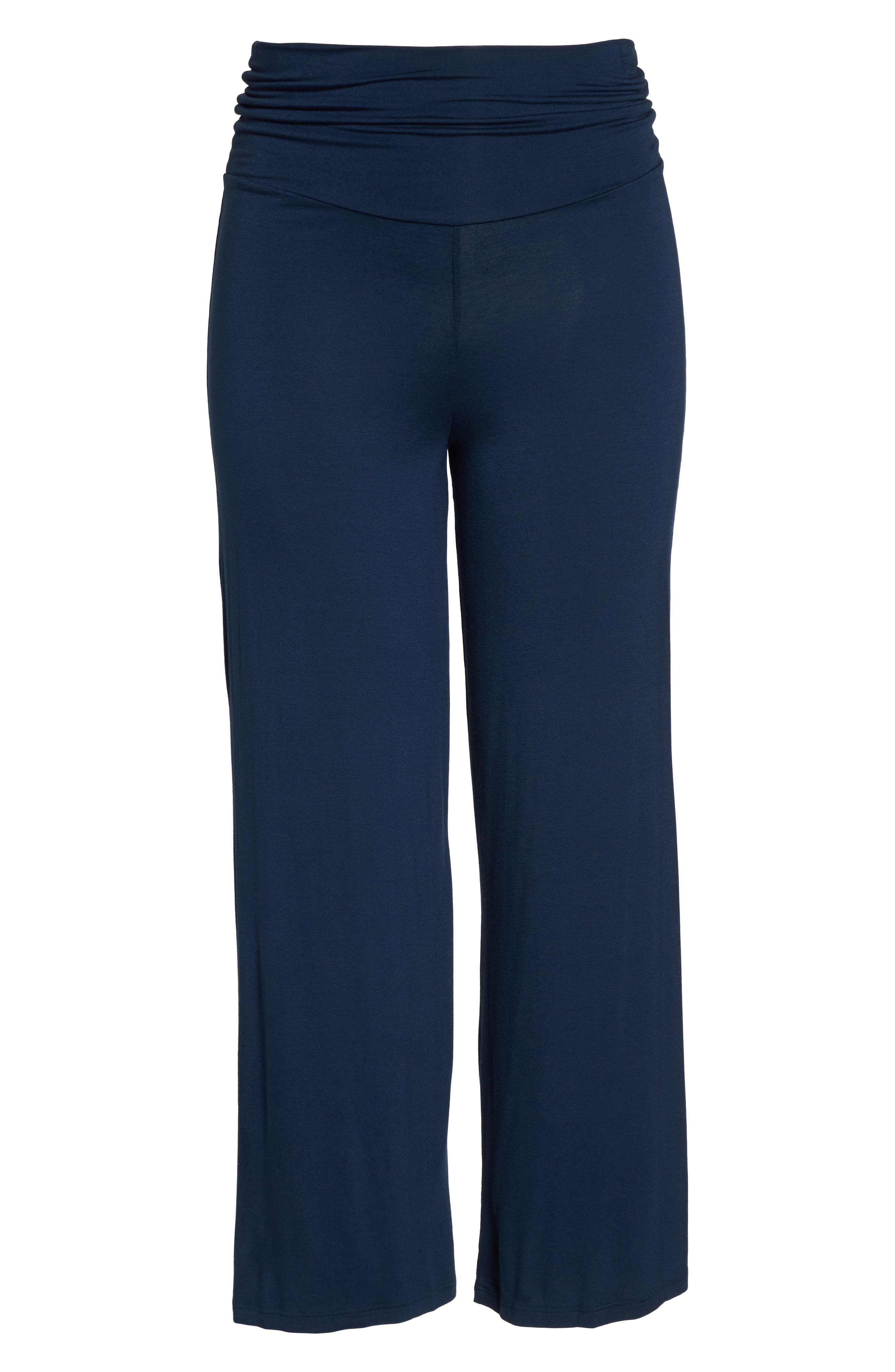 Knit Pants,                             Alternate thumbnail 6, color,                             Navy