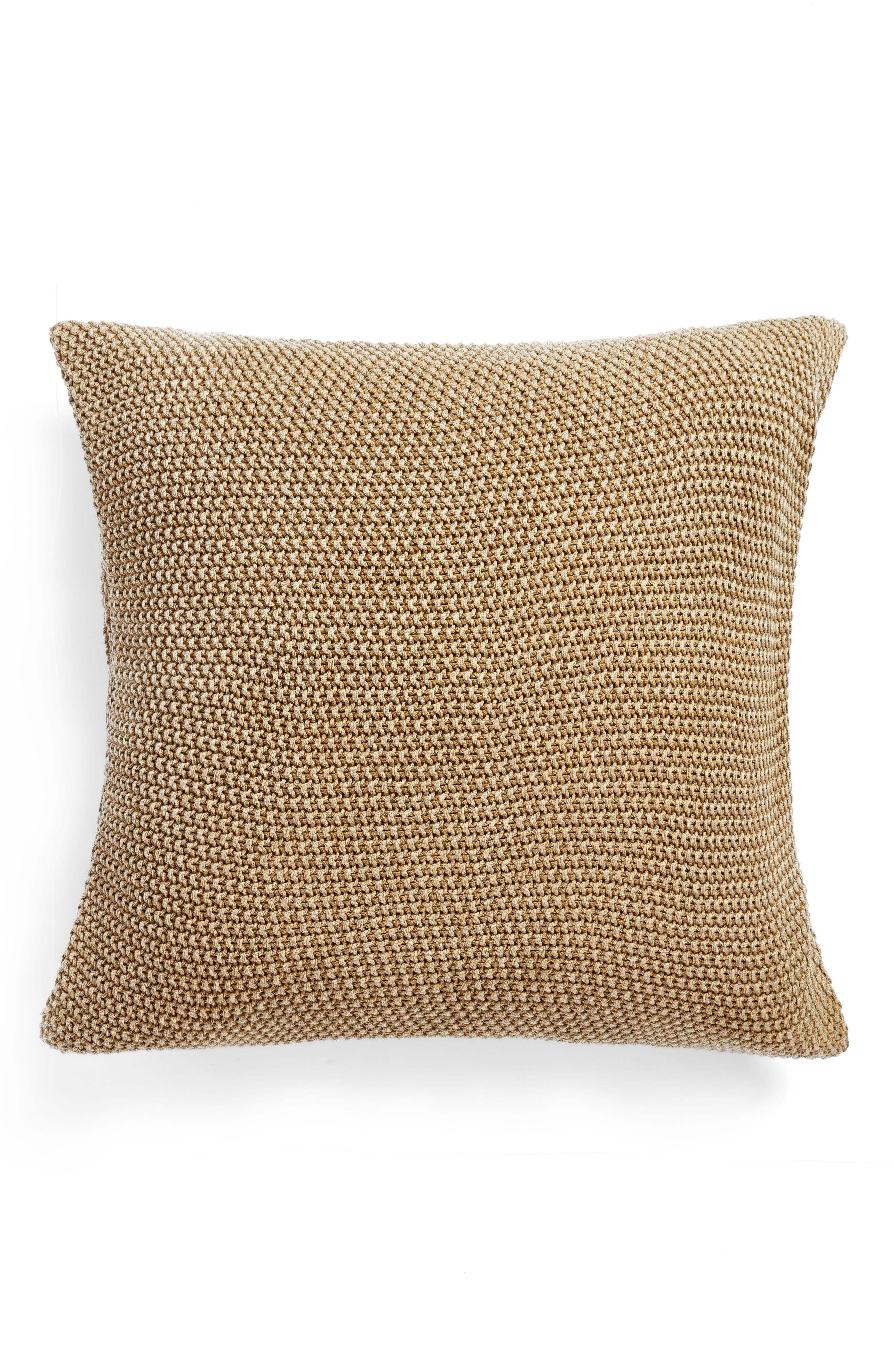 Seed Stitch Accent Pillow,                             Main thumbnail 1, color,                             Olive Estate