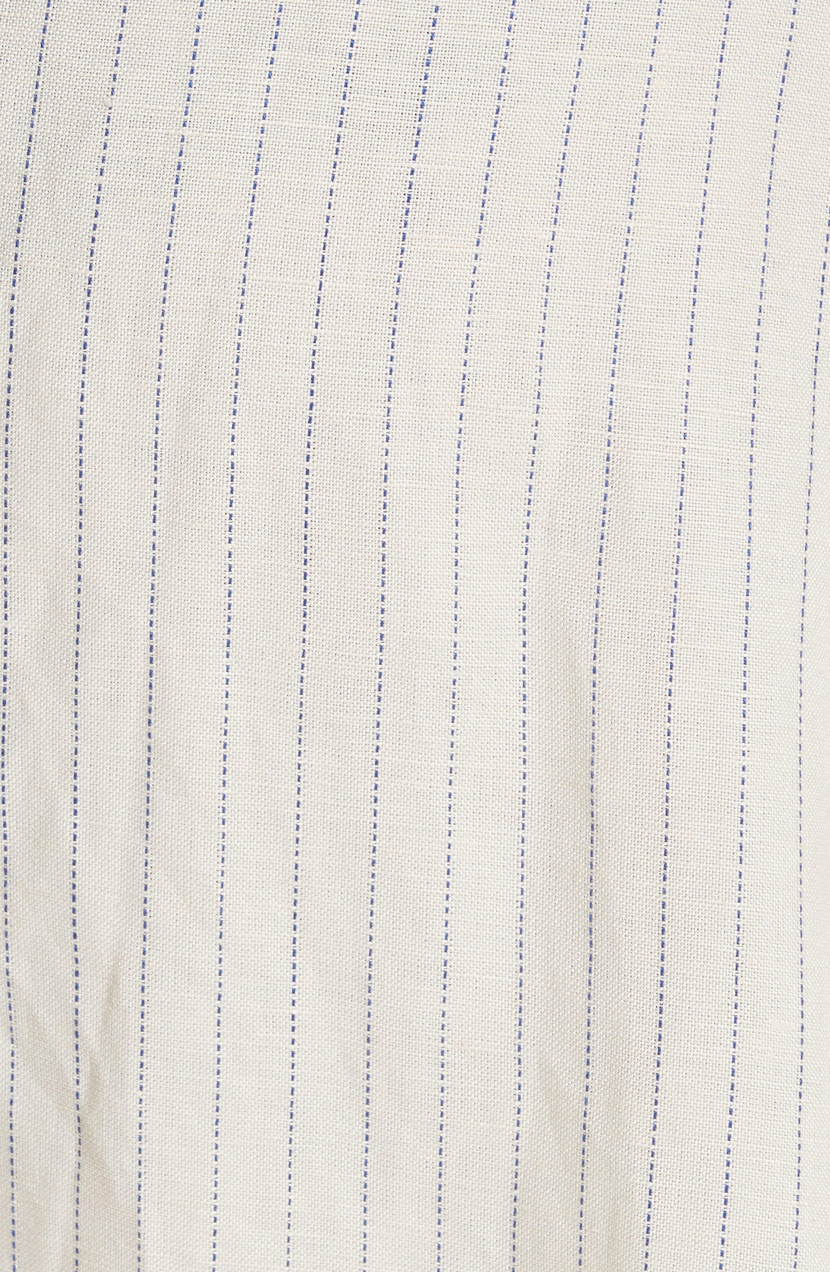 Pretty Daze Midi Dress,                             Alternate thumbnail 5, color,                             Ivory Combo