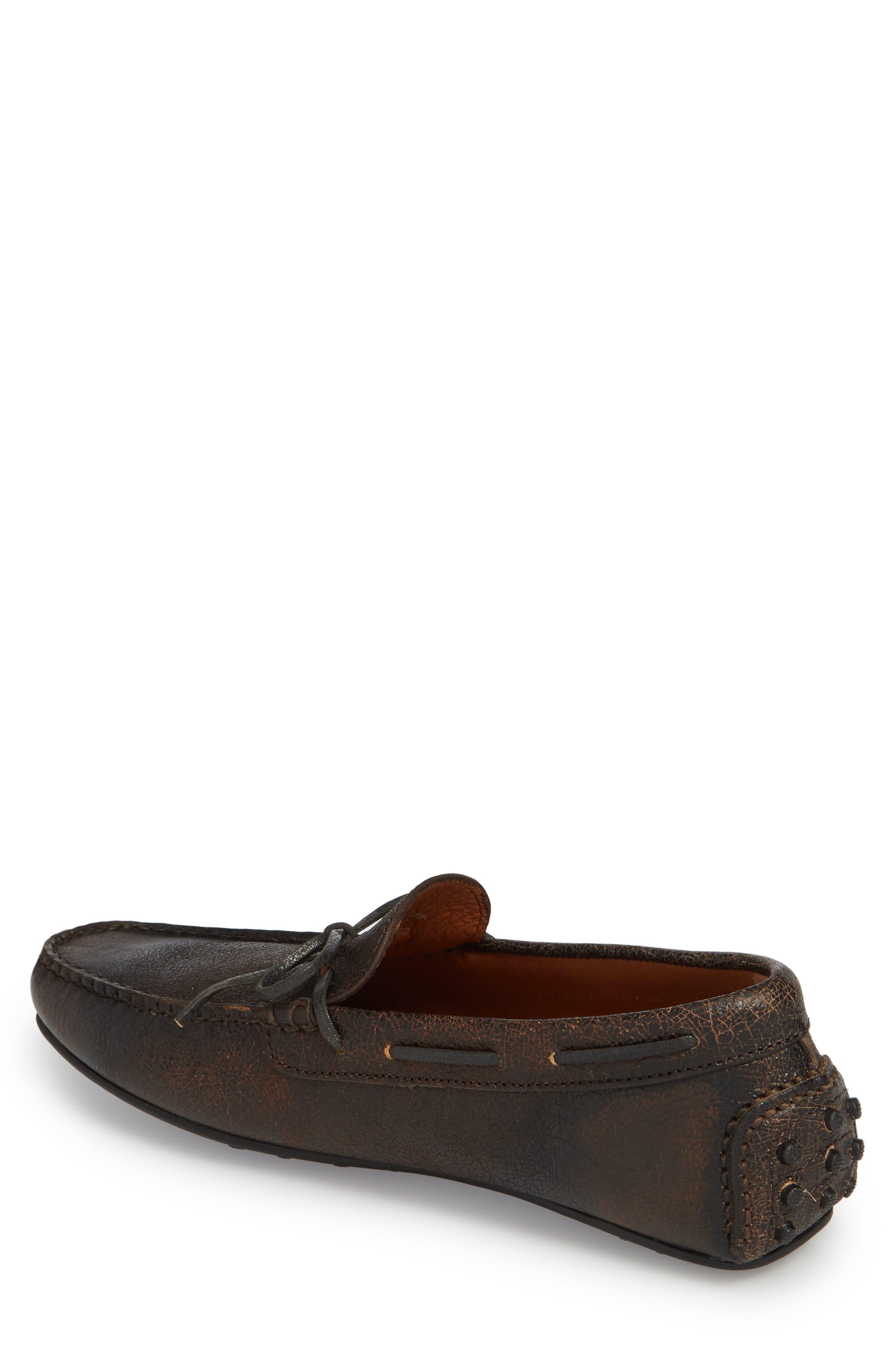 Allen Loafer,                             Alternate thumbnail 2, color,                             Dark Brown Leather