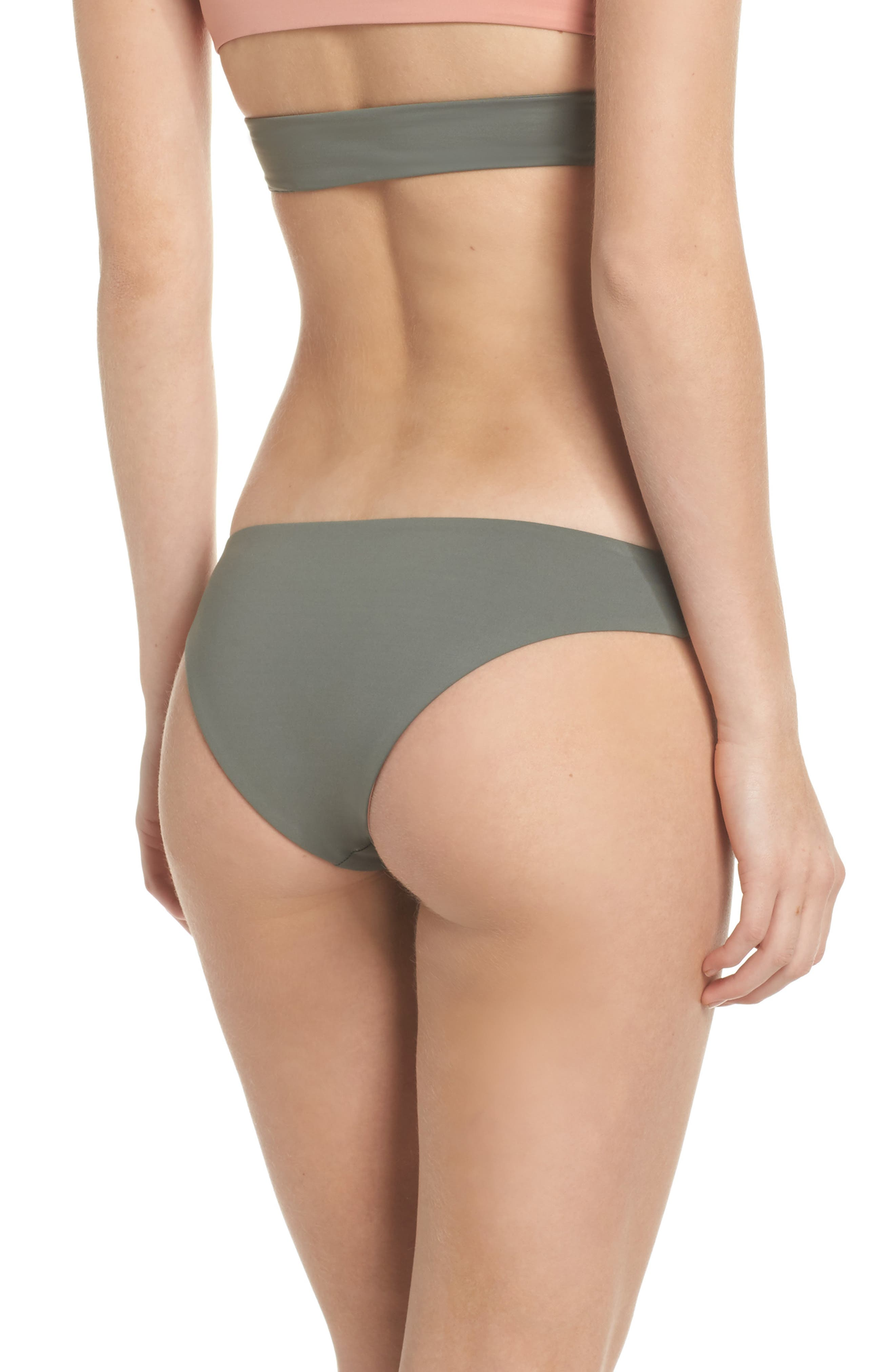 Jaclyn Hipster Bikini Bottoms,                             Alternate thumbnail 2, color,                             Desert Clay/ Cove Grey
