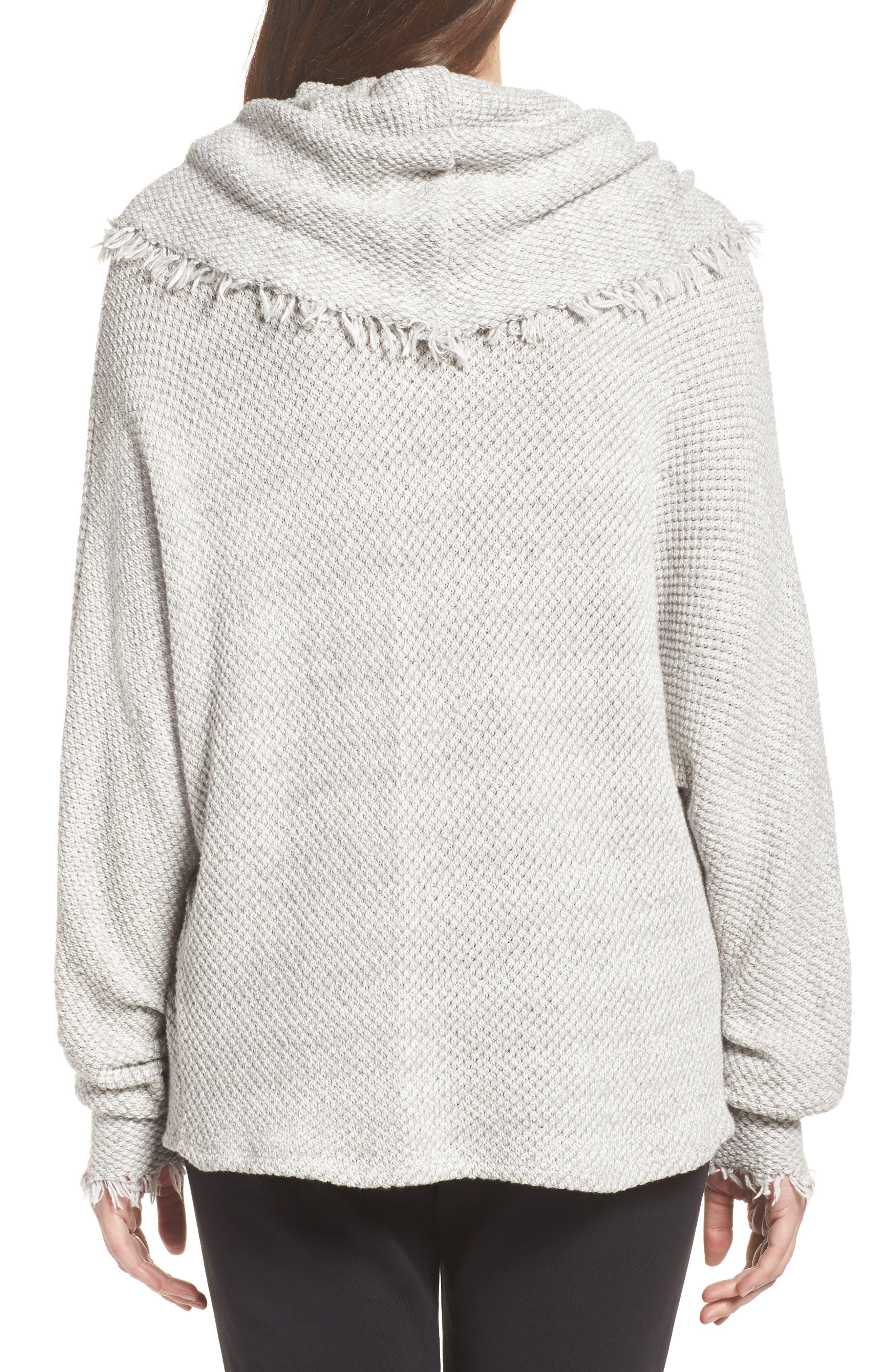Oversize Turtleneck Sweater,                             Alternate thumbnail 2, color,                             Heather Grey