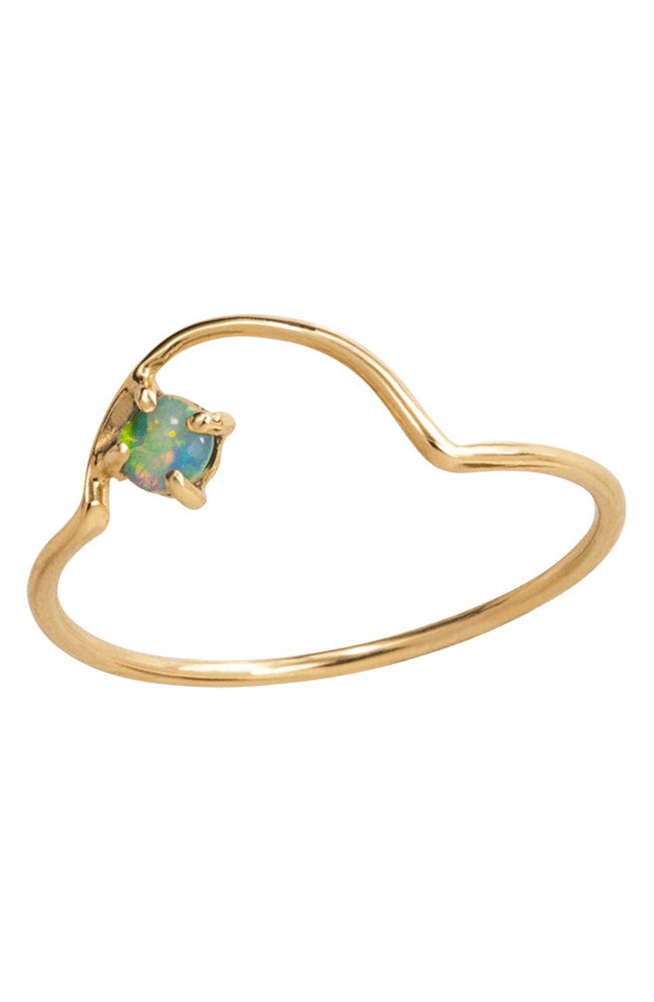 Alternate Image 3  - WWAKE Offset Opal Arc Ring