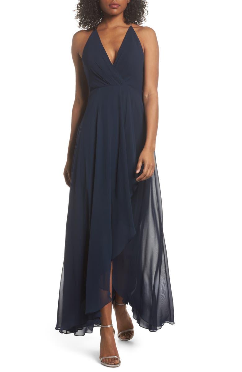 Farrah Ruffle Skirt Chiffon Gown