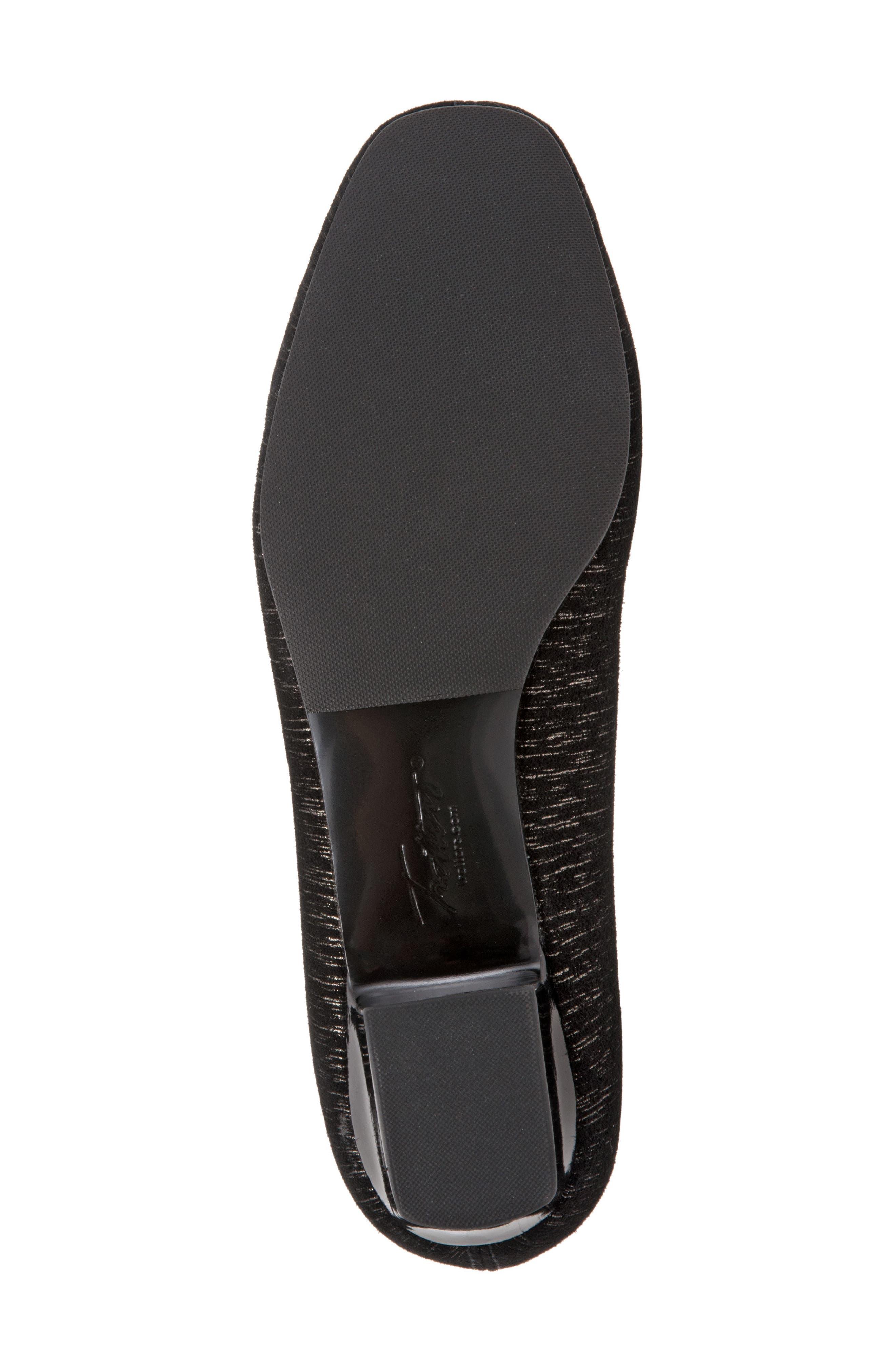 'Doris' Pump,                             Alternate thumbnail 6, color,                             Black/ Black Leather
