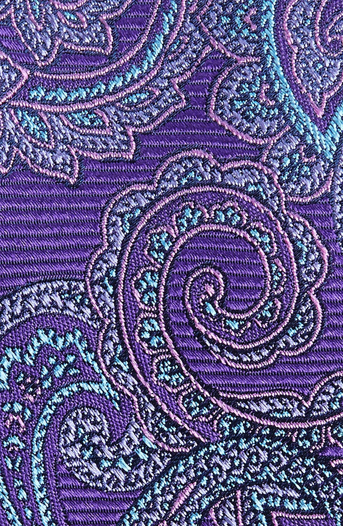 Avalon Paisley Silk Tie,                             Alternate thumbnail 2, color,                             Purple