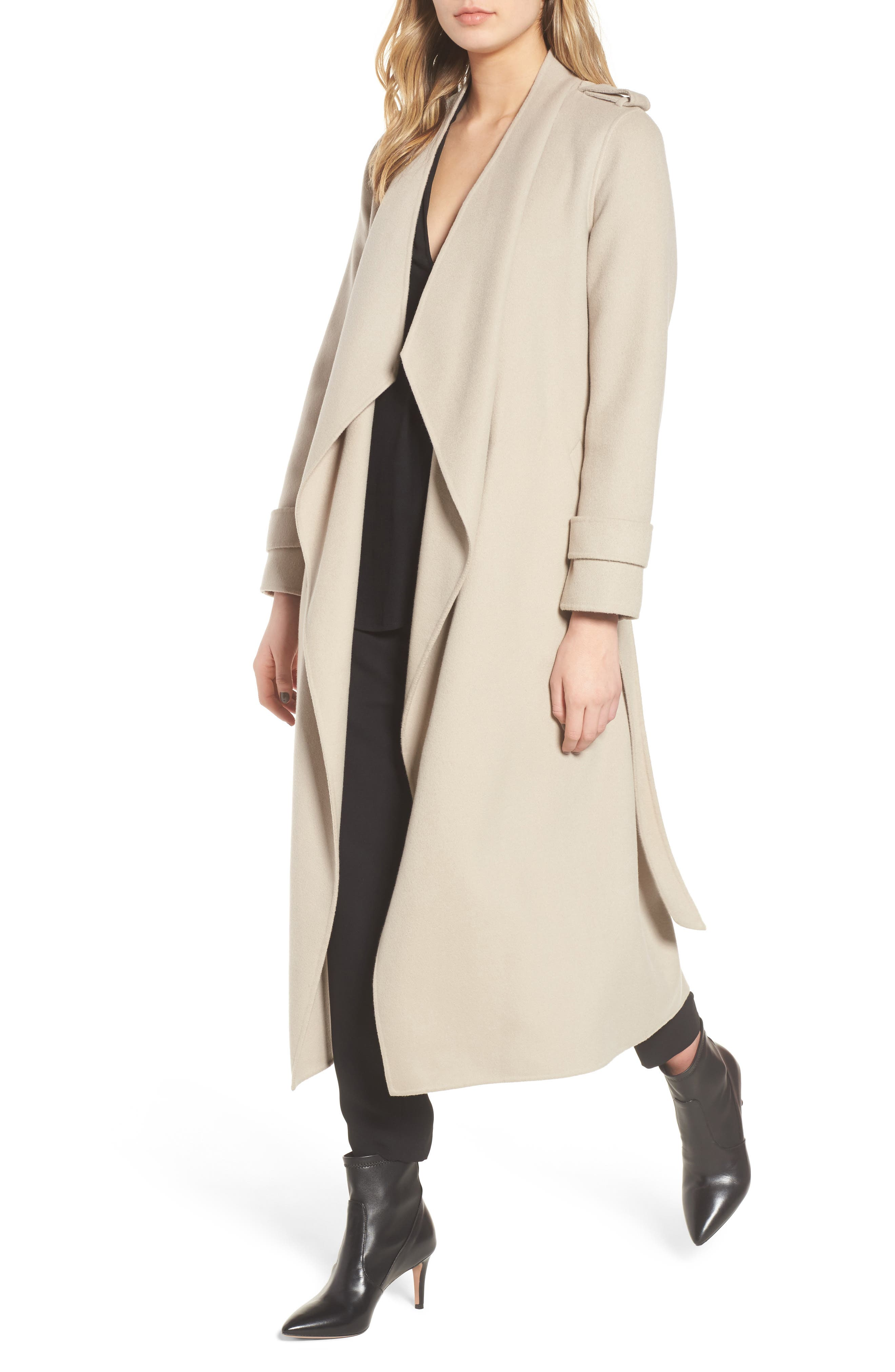 womens suede drapes f khaki and tie coat jacket blockout faux fit drape
