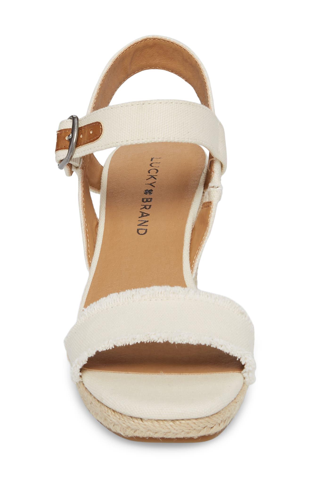 Alternate Image 4  - Lucky Brand Marceline Squared Toe Wedge Sandal (Women)