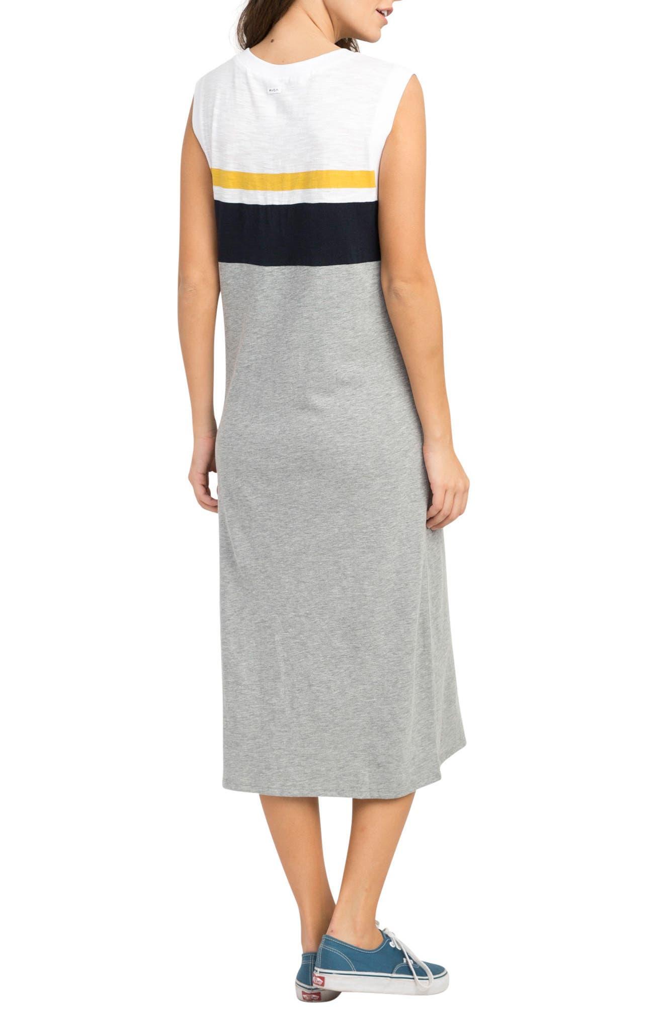Scorekeeper Midi Dress,                             Alternate thumbnail 3, color,                             Heather Grey
