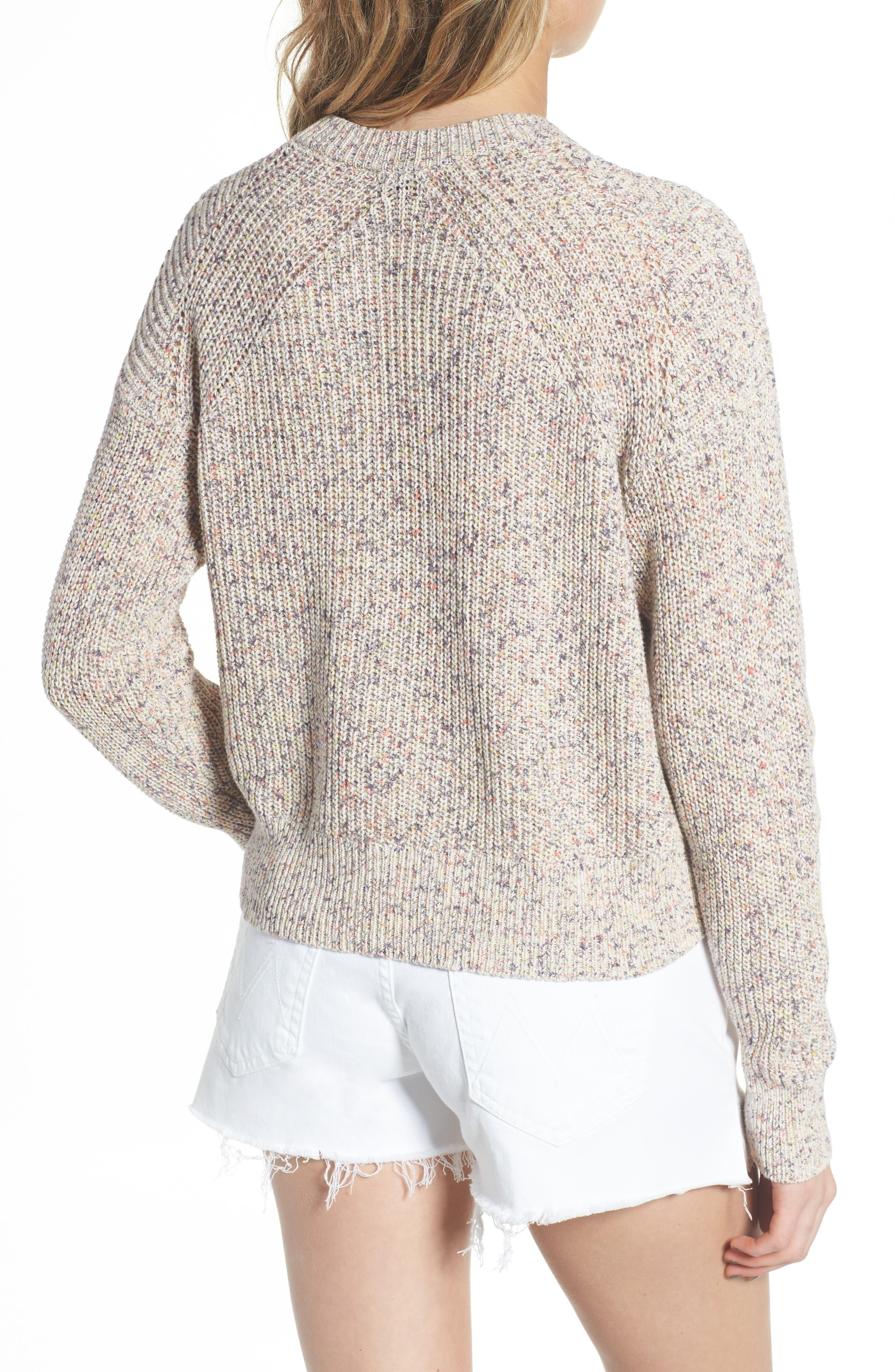 Plunging Crisscross Sweater,                             Alternate thumbnail 3, color,                             Glow Multi