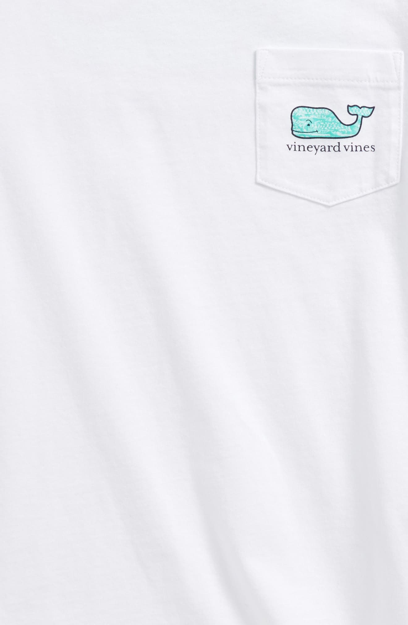 Fish Gate Whale T-Shirt,                             Alternate thumbnail 3, color,                             White Cap