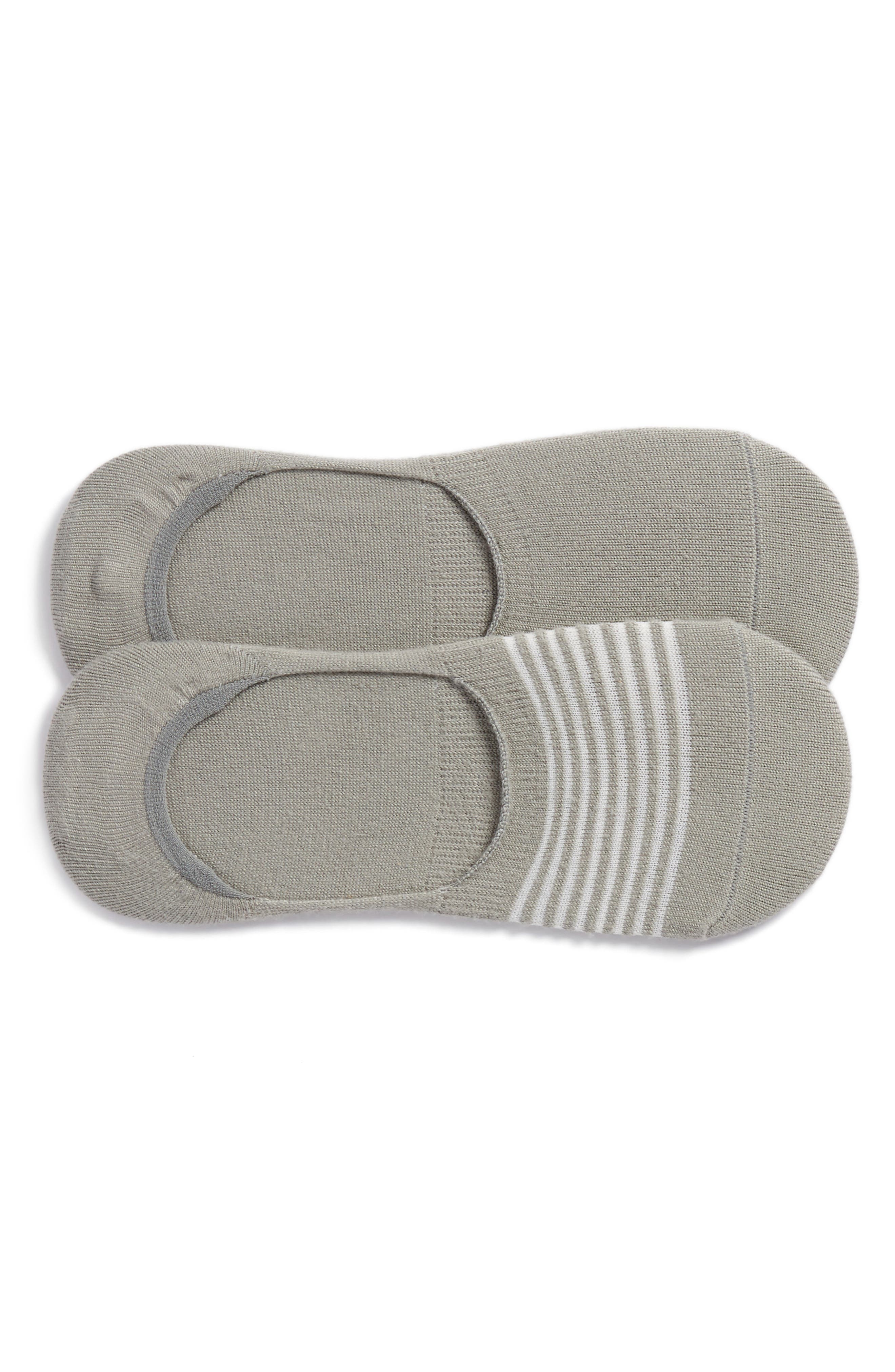 2-Pack Beach Mesh Liner Socks,                             Main thumbnail 1, color,                             Concrete