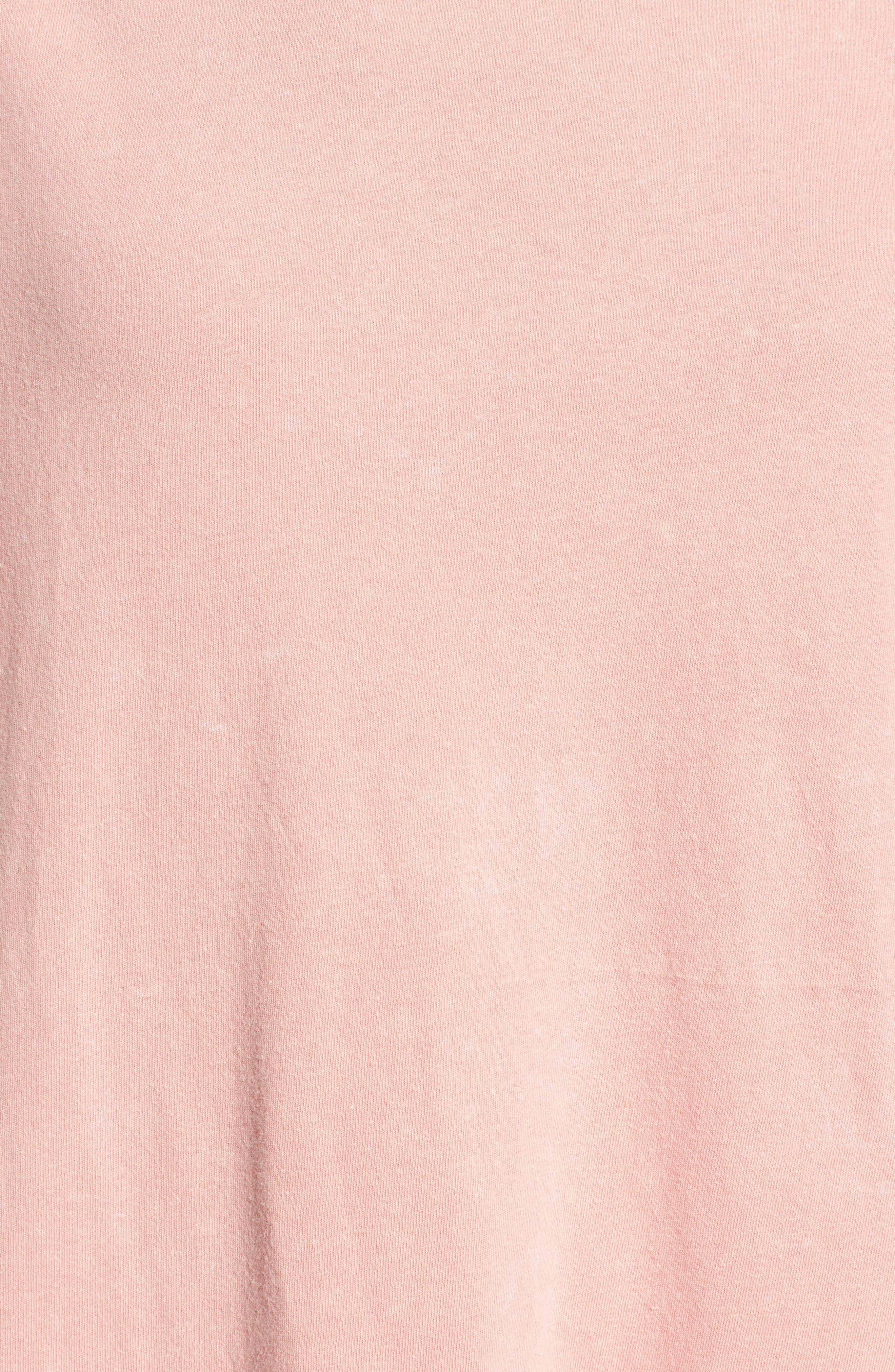 Stonewash Ruffle Trim Dress,                             Alternate thumbnail 5, color,                             Pink Dawn
