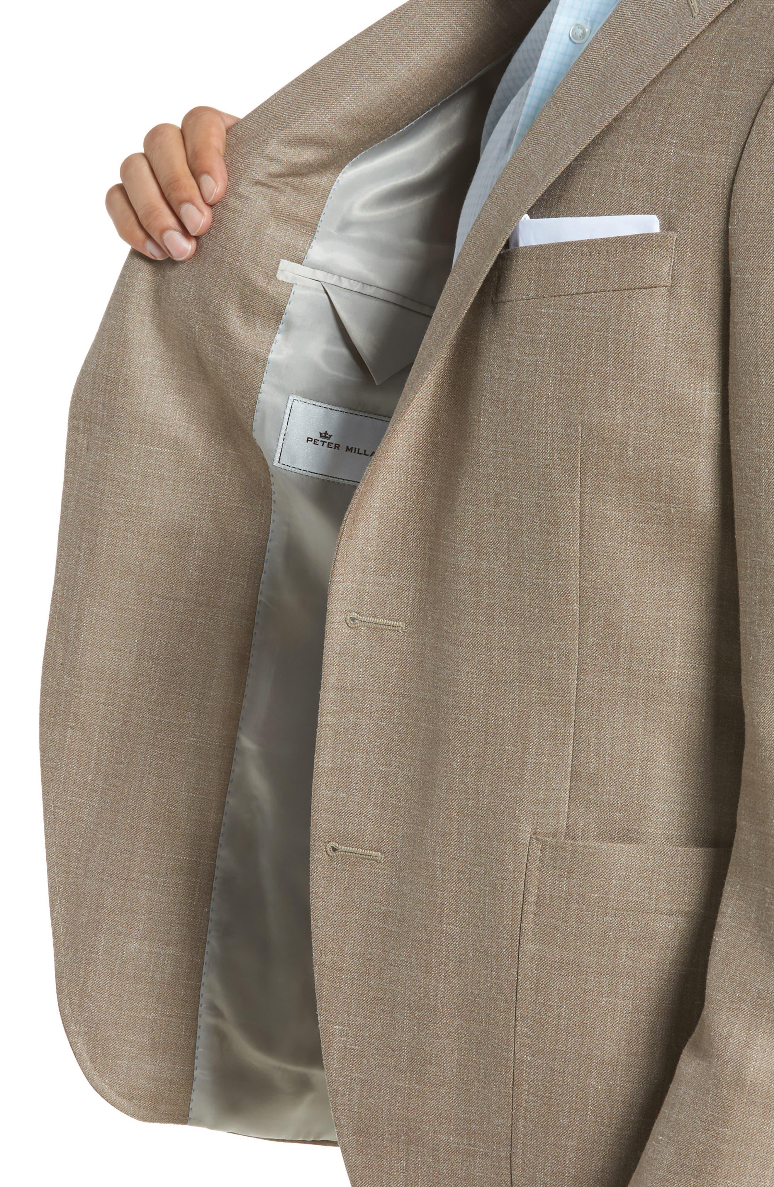 Classic Fit Wool Blend Blazer,                             Alternate thumbnail 4, color,                             Tan